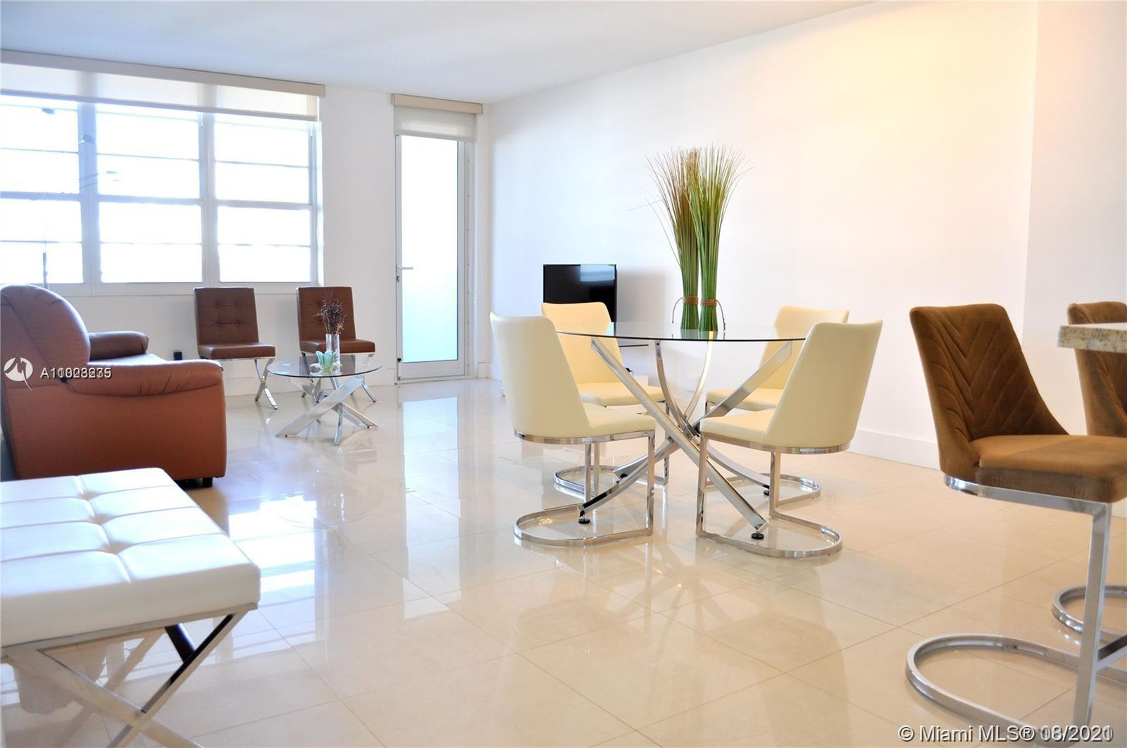 Beautiful one bedroom, ocean-view 845 sqft, condominium in the best location on South Beach. This is one of the best lines in the building and is the closest one-bedroom to the beach. Fully equipped kitchen, large living room with a huge open floor plan, open balcony, massive bathroom with shower,  100 Lincoln Road boasts brand new infinity pool and gym, community room, and 24-hour concierge and security. One free valet parking space is included and completes this beachfront home. Also, there is a liberal rental policy that allows the unit to be rented once per month. A must see!*CAN BE RENTED 12 TIMES A YEAR** SPECIAL ASSESTMENT UNTIL MARCH 2024**