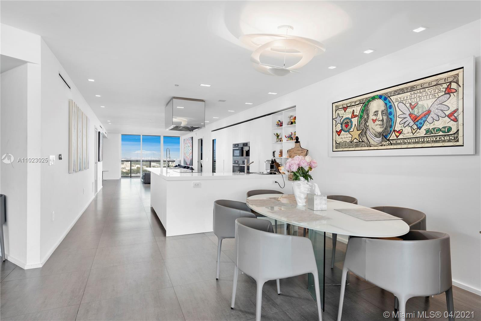 Introducing fabulous residence at the Icon South Beach. A true must see. Fully renovated and tastefully decorated combined unit(2403-2404)with spacious 4 Beds 4,5 Baths. This rare combination offers the largest floor plan in the building. Flow-through design with modern sleek open kitchen, dining area and two living areas, one with views of gorgeous Fisher Island, Brickell skyline views and the other one with urban views of Miami Beach. 2 large&perfect for entertaining balconies. Renovated building, services include complimentary valet for all guests & residents, lobby attendant, full service gym & spa with personal trainers on site, lap pool, main pool, restaurant, massage room & more. South of 5th neighborhood giving residents direct access tothe legendary restaurants in the area.