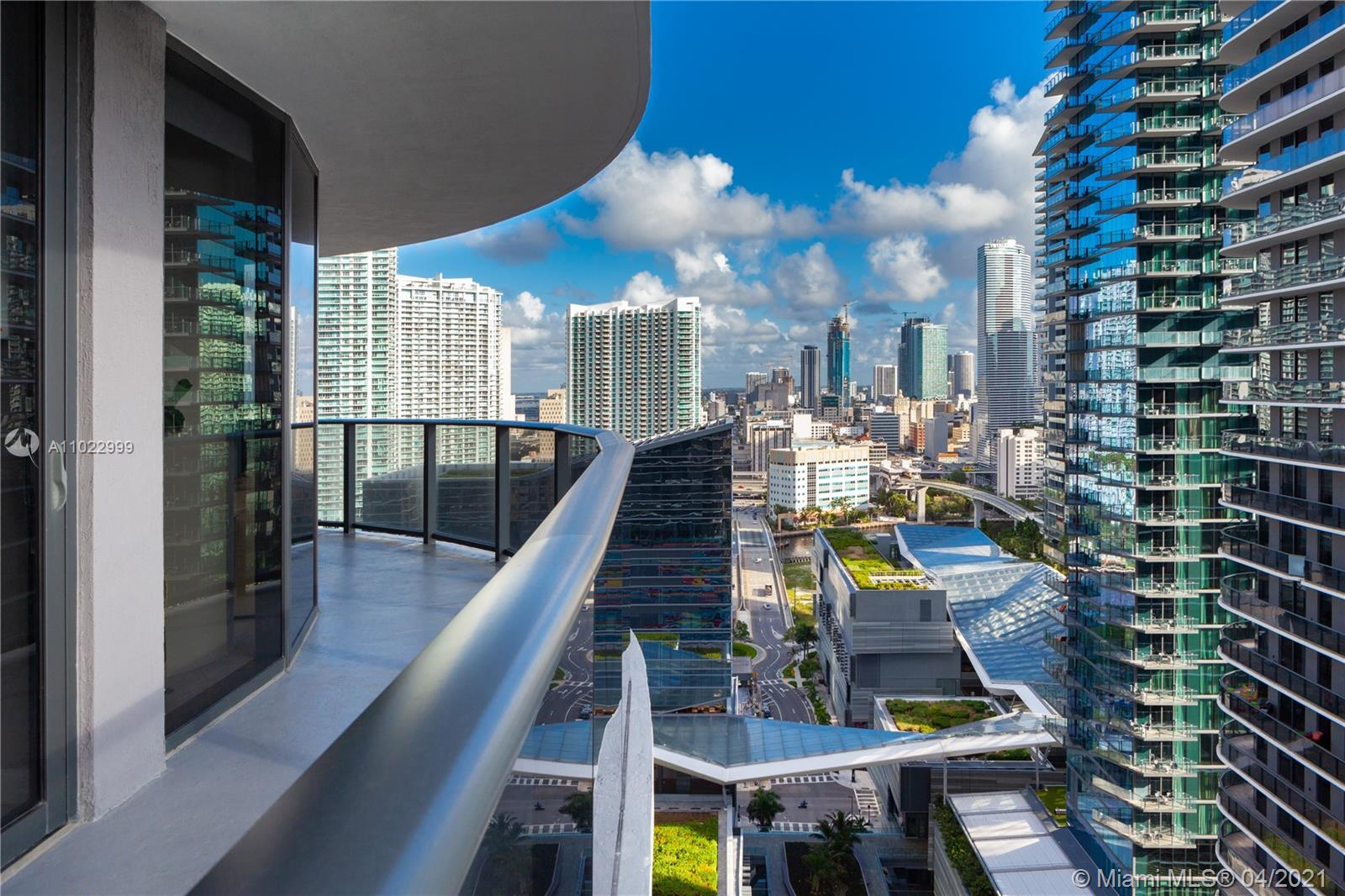 Motivated seller. 3D Tour available. Unit has a two-year lease ending in Jan 2022 at $3200 a month. Stunning 2 BR+ 2 BA. Floor to ceiling impact windows. Top of the line appliances, open kitchen, 1 assigned parking space included. Beautiful views from the 23rd floor see as far to the open ocean. Large wraparound balcony. Enjoy the 6-star resort style amenities featuring outdoor fitness area, roof top pool, and the world famous equinox fitness center. Steps away from shops, restaurants, and entertainment. Great investment opportunity! Open to offers.