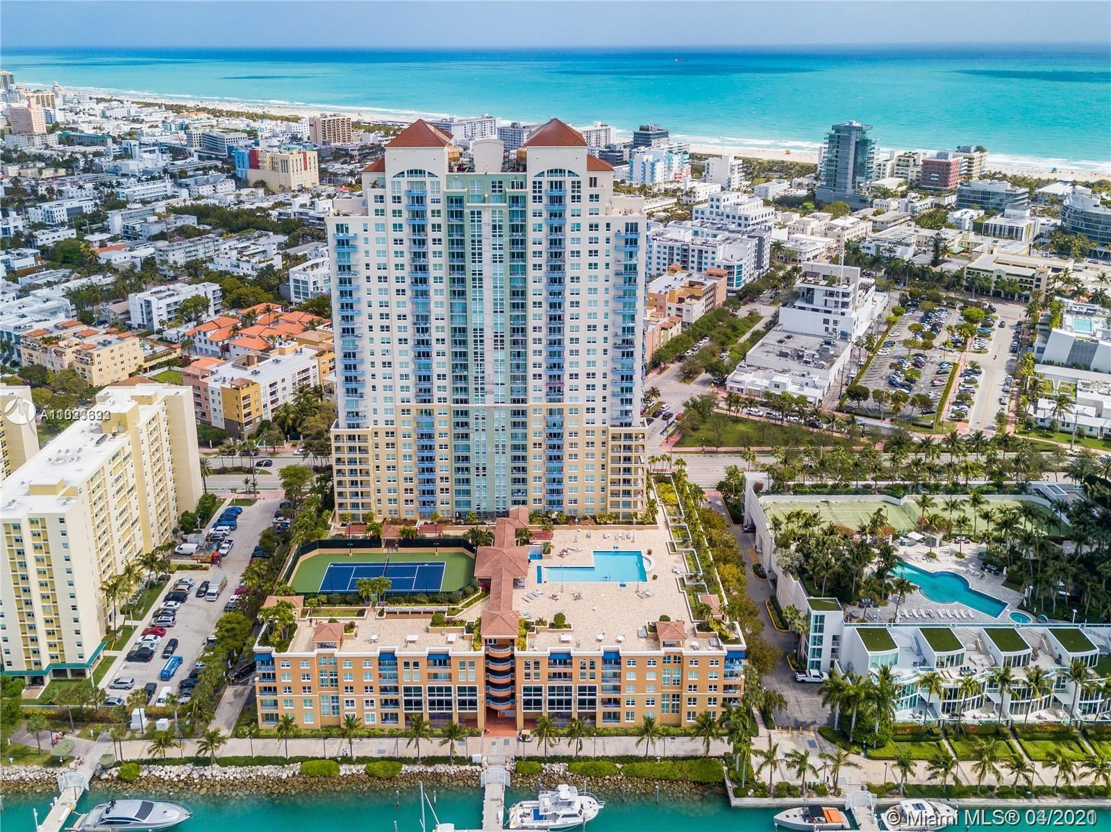 A MUST SEE. LUXURY CONDO IN SOUTH POINTE PARK WITH MIAMI BEACH MARINA ACCESS. UNIT FEATURES A SPLIT PLAN, OPEN BALCONY WITH BEAUTIFUL VIEWS, STAINLESS STEEL APPLIANCES, GRANITE KITCHEN COUNTERTOP. BUILDING AMENITIES INCLUDES GYM, TENNIS COURT, HEATED POOL AND TUB, BBQ AREA, 24 HR DOORMAN, VALET PARKING SERVICE, HAIR SALON AND CONVINIENCE STORE. THIS UNIT IS WALKING DISTANCE TO THE BEACH, GREAT SOFI RESTAURANTS, MARKETS AND SHOPS. A/C AND WATER HEATER WERE REPLACED 2 YRS AGO. HOA INCLUDES WATER, CABLE TV, INTERNET. PROPERTY IS CURRENTLY RENTED UNTIL MARCH 2022