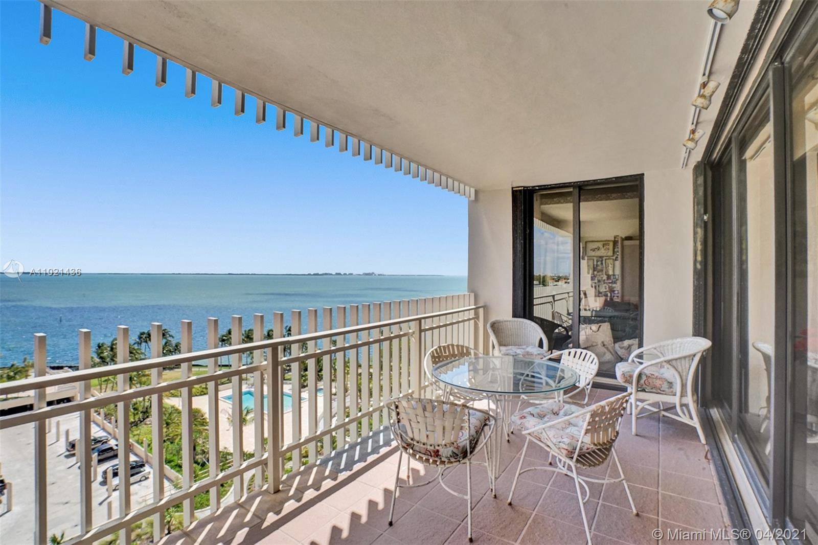 Looking to live in paradise, Look no further!  This large 2 bedroom, 2 bathroom is one of the larger two bedroom floor plans offering 1,882 square feet of living space.  This residence faces North East offering views of the east bay. Enjoy beautiful sunrises each morning right from your terrace or from any of the bedrooms.  Features include a side by side washer and dryer, tons of cabinets for storage, built-ins, and a very spacious primary bedroom with a large walk-in closet, room for a seating area, and its own bathroom with dule sinks, separate tub, and shower.  A great opportunity to customize and make this your own special home.  Live at Grove Isle, a 20-acre guarded isle with full services and resort style amenities. Perfectly located in desirable Coconut Grove.
