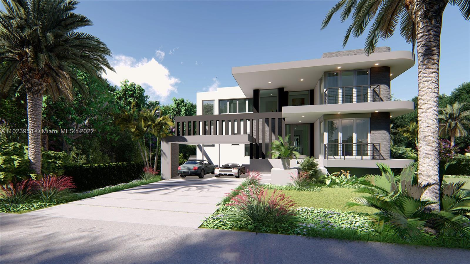 Select finishes and colors with the Developer. Enjoy Island living with a brand new, single family home scheduled for completion in the Summer of 2022. Beautiful finishes will leave you breathless for this contemporary, spacious 5 bd/5ba/2 half bath home located on an oversized corner lot, steps from Key Biscayne's top schools, parks, and commercial centers. This 4,050 SF (under A/C) home sits on a quiet, residential street with easy access to Harbor Drive. The open floor plan defines luxurious Key living at its best, with a modern Italian kitchen including top of the line appliances, swimming pool with patio, covered terrace with outdoor summer kitchen, impact windows/doors, and large carport. Built by P.K. Contractors Group, LLC.
