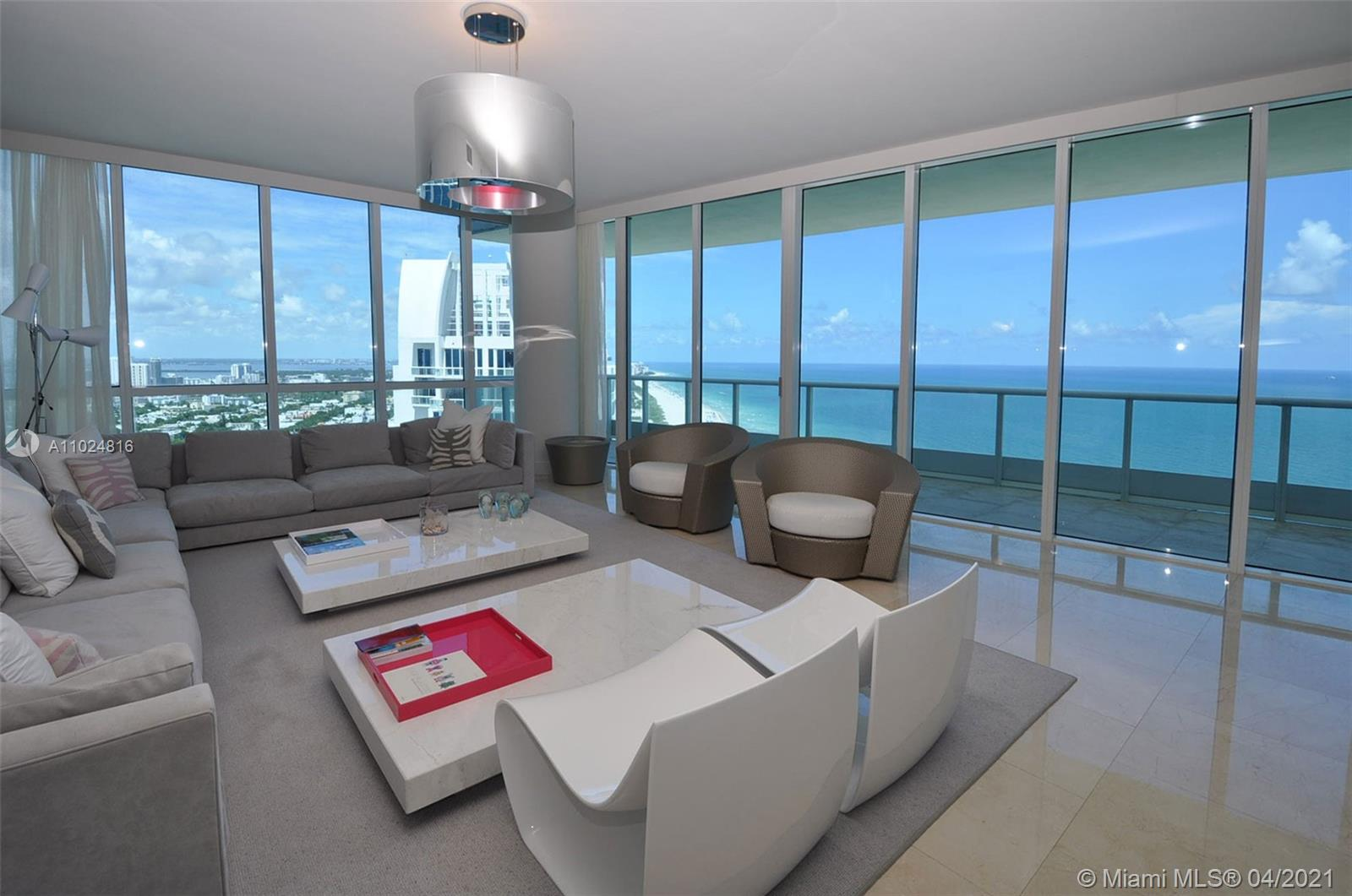 One of the best corner, direct ocean apartments at The Continuum in South Beach.  And, way up high on the 36th floor! This 2 Bed, 2½ Bath luxury apartment offers over 2000 sqft of luxury living space, with floor-to-ceiling windows, a very spacious private terrace and probably some of the best beach views you will ever see.  The split floor-plan has direct East and direct North views, with spacious bedrooms and a grand living area.  The Continuum is a private and gated community in the SoFi district of Miami Beach, and offers a private beach club, onsite restaurant, world-class health club, tennis courts and more.  It is just a few blocks from Joe's Stone Crab, Prime 112 and a host of other extraordinary dining experiences.