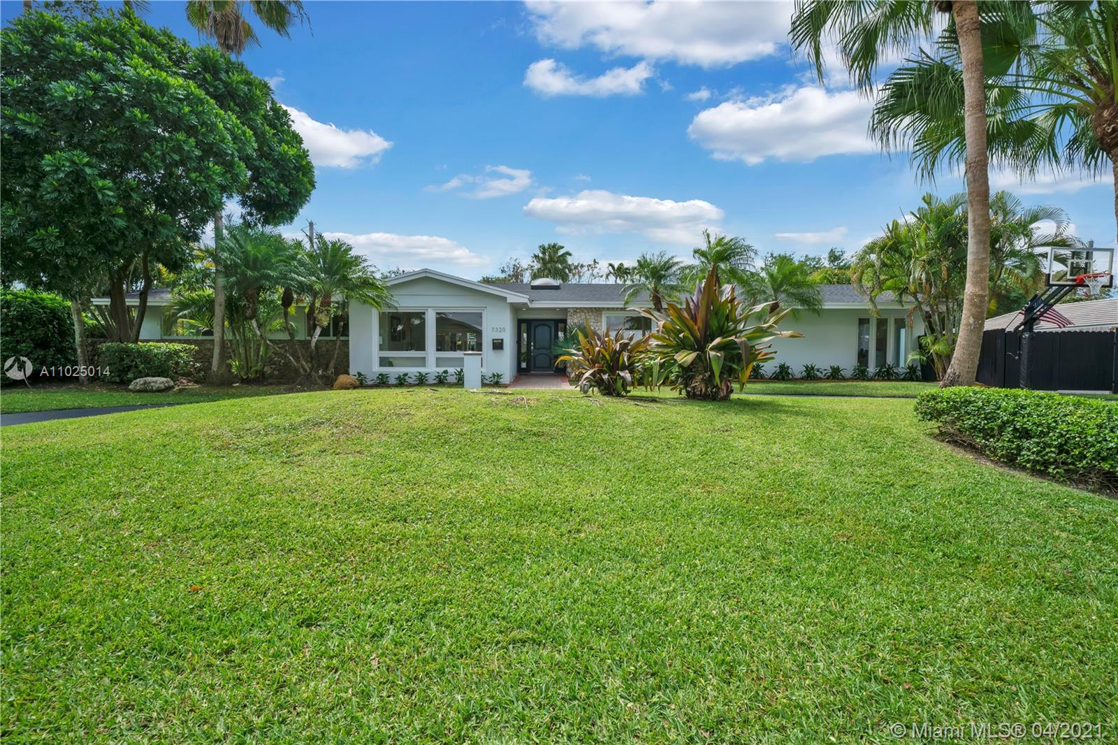 North Palmetto Bay PERFECTION! Fully remodeled in 2018 this spacious 5/3 home is 4,015 liv sqft as per appraisal. Gourmet kitchen w/ eat-in bay window seating overlooks spectacular pool patio. Porcelain tile throughout living areas & oversized bedrooms. Magnificent owners suite features volume ceilings,floor-to-ceiling windows overlooking the tropical backyard, along with w/custom bath & rock star built walk-in closet. An abundance of natural light flowing through skylights & full impact windows/doors open to a spacious pool/patio overlooking lush landscaping/private backyard perfect for outdoor enjoyment. New water supply, drain lines,& 2017 roof. Hop on bordering paths steps away from Old Cutler Rd, Coral Reef Park, Deering Estate,& top-rated public/private schools. Come fall IN LOVE!
