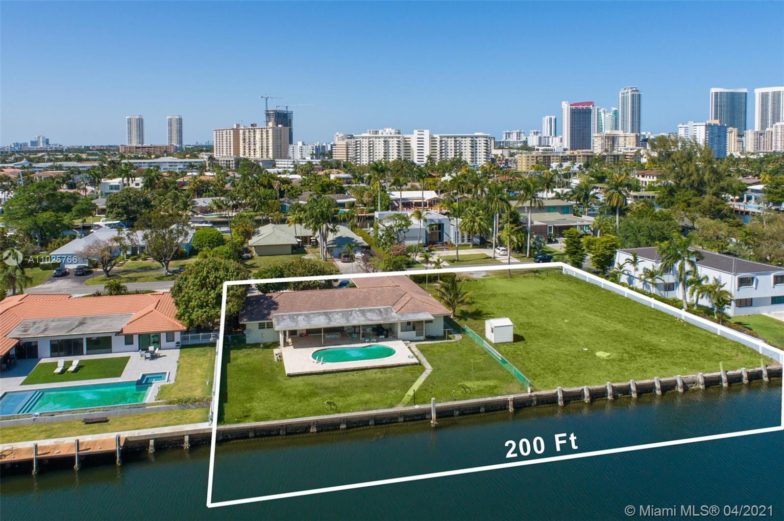 Impressive double lot with over 30,000 sq.ft. and 200 feet of waterfront on deep-water with no fixed bridge and ocean access. This lot has southern exposure with sunrises and sunsets, beautiful views not facing any condos and perfect for large vessels on its protected no wake wide canal. This property has a new 200' batter pile seawall and massive new dock and is a one-of-a-kind opportunity to build a huge new waterfront estate or build two large waterfront estates on this massive lot. The property is situated on one of the best streets in the community, a quiet cul-de-sac street and canal with no thru traffic. Located in the private gated waterfront community of Golden Isles, centrally located between Miami and Ft. Lauderdale and close to The Shops of Bal Harbour and the Aventura Mall.