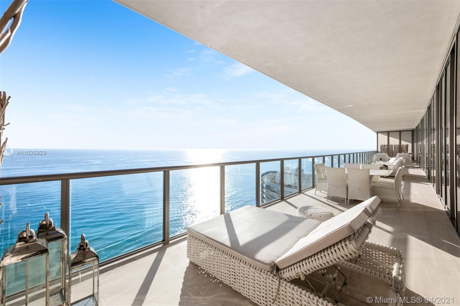 Unique opportunity to own this Penthouse Mansion on the sky at the St. Regis Bal Harbour. Two units combined; 2702 & 2703, doubling the sq ft in the tax roll see broker remarks. Located directly on the ocean with breathtaking views of the Atlantic and across from the renowned Bal Harbour Shops. This penthouse boasts five bedroom suites with two master bedrooms, custom finishes and furnishings and nearly 100 ft of continuous balcony on the east and west sides of the unit, PH 02/03 is ideal for large families and as spectacular as the view it commands. Live above it all! see broker remarks for sq.ft.
