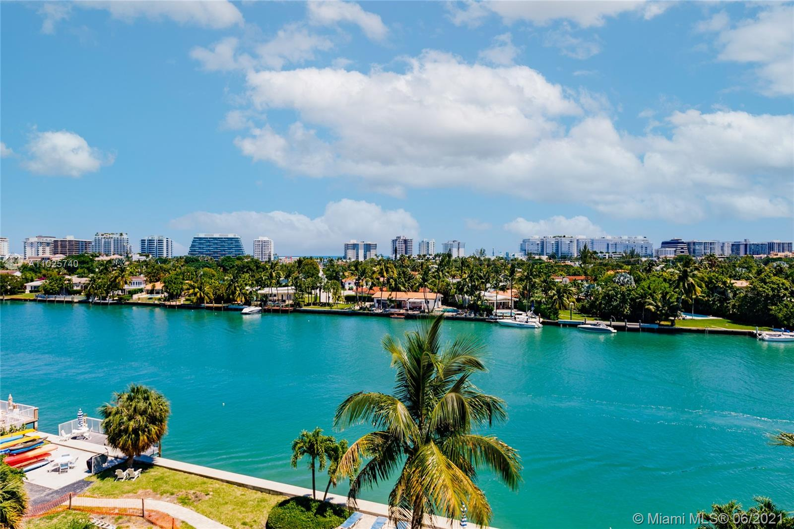 Unparalleled views from this bright and spacious condo in Bay Harbor Islands. Oversized balcony with East views of the Bay, Ocean and Skyline.  This unit is in pristine condition, with generous bedrooms, a nicely updated kitchen and plenty of storage space.  The building grounds are beautiful and feature a wonderful pool area in addition to boat slips.  Furniture may be negotiable.