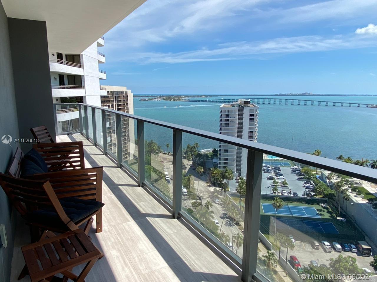BEAUTIFUL  CORNER UNIT AT ECHO BRICKELL WITH  SPECTACULAR WATER  AND CITY VIEWS FROM EVERY ROOM, 2BD/2.5BA FURNISHED UNIT WITH MARBLE FLOORS THROUGHOUT, ITALIAN KITCHEN WITH GLASS CABINETRY AND TOP OF THE LINE APPLIANCES SUB-ZERO AND BOSCH, FLOOR TO CEILING WINDOWS,SPACIOUS TERRACE  WITH SUMMER KITCHEN,SMART HOME TECHNOLOGY INCLUDED TO CONTROL SURROUND SYSTEM,WINDOWS TREATMENTS, AC AND MORE. 2 PARKING SPACES WITH ROBOTIC PARKING SYSTEM. BOUTIQUE BUILDING WITH ONLY 180 UNITS,STATE OF THE ART AMENITIES,INCLUDING INFINITY EDGE POOL WITH PANORAMIC WATER VIEWS AND DECK WITH FIVE STARS  RESORT SERVICE RESTAURANT, BAR, SPA, GYM,PET WALKER, 24/7 CONCIERGE AND VALET PARKING. WALKING DISTANCE FROM SHOPS AND RESTAURANTS. LOCATION, LOCATION!!