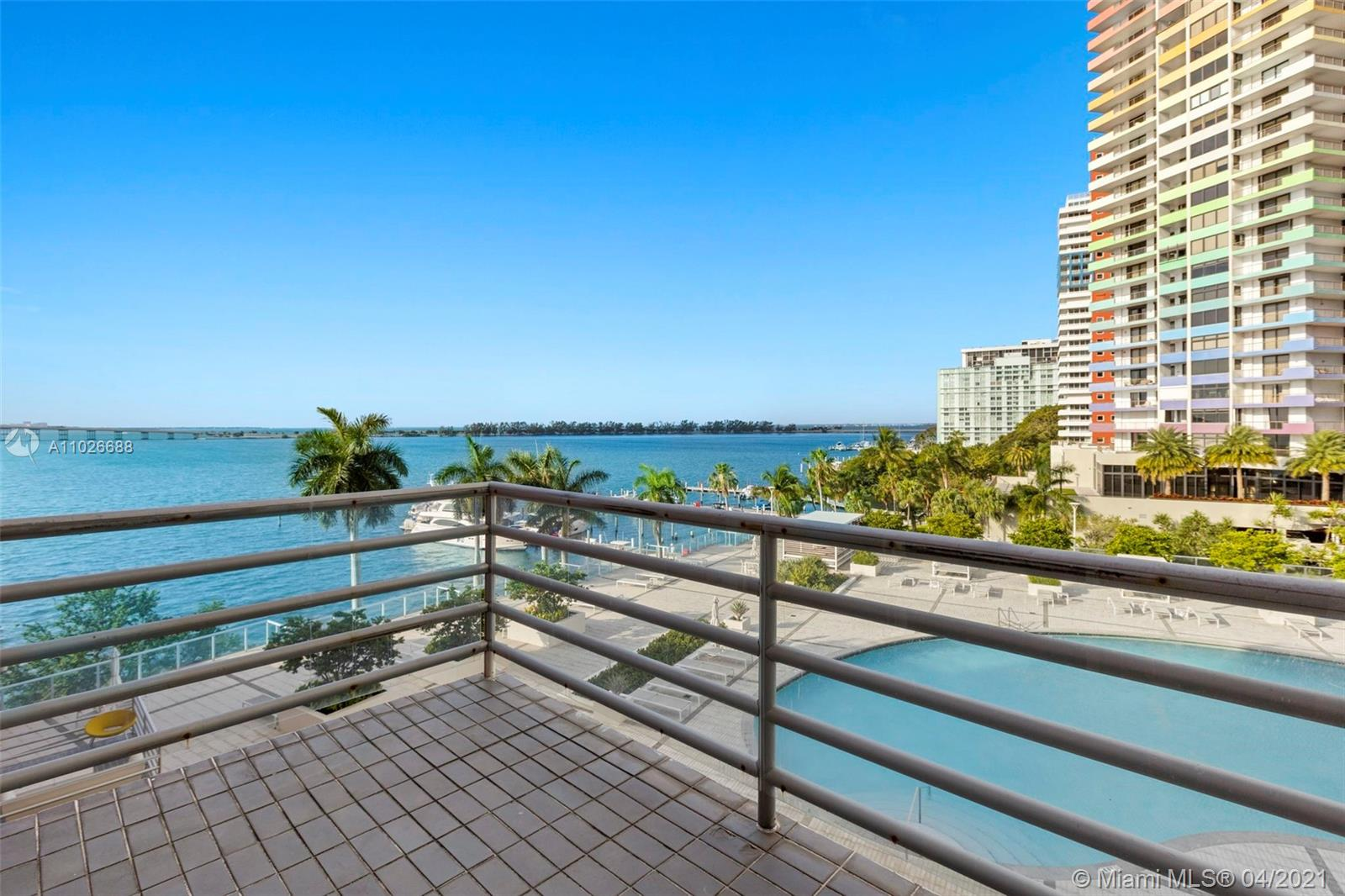 Beautiful 3 bedrooms 2 Bathrooms at The Palace Brickell with Balcony overlooking the Bay and the recently renovated gorgious Pool. Large living and dining area. Lots of closets. Enjoy Bay Views from every room! Ideally located within walking distance to everything in Brickell, the Palace on Brickell offers state of the art amenities (gym, 2 lighted tennis courts, gorgeous pool, sundeck, kids play room, ect..). Recent enhancements and upgrades of the building provide a pleasant environment and quiet relaxation with an enlarged spa area, outdoor lounge and two new pavilions. Very easy to show.