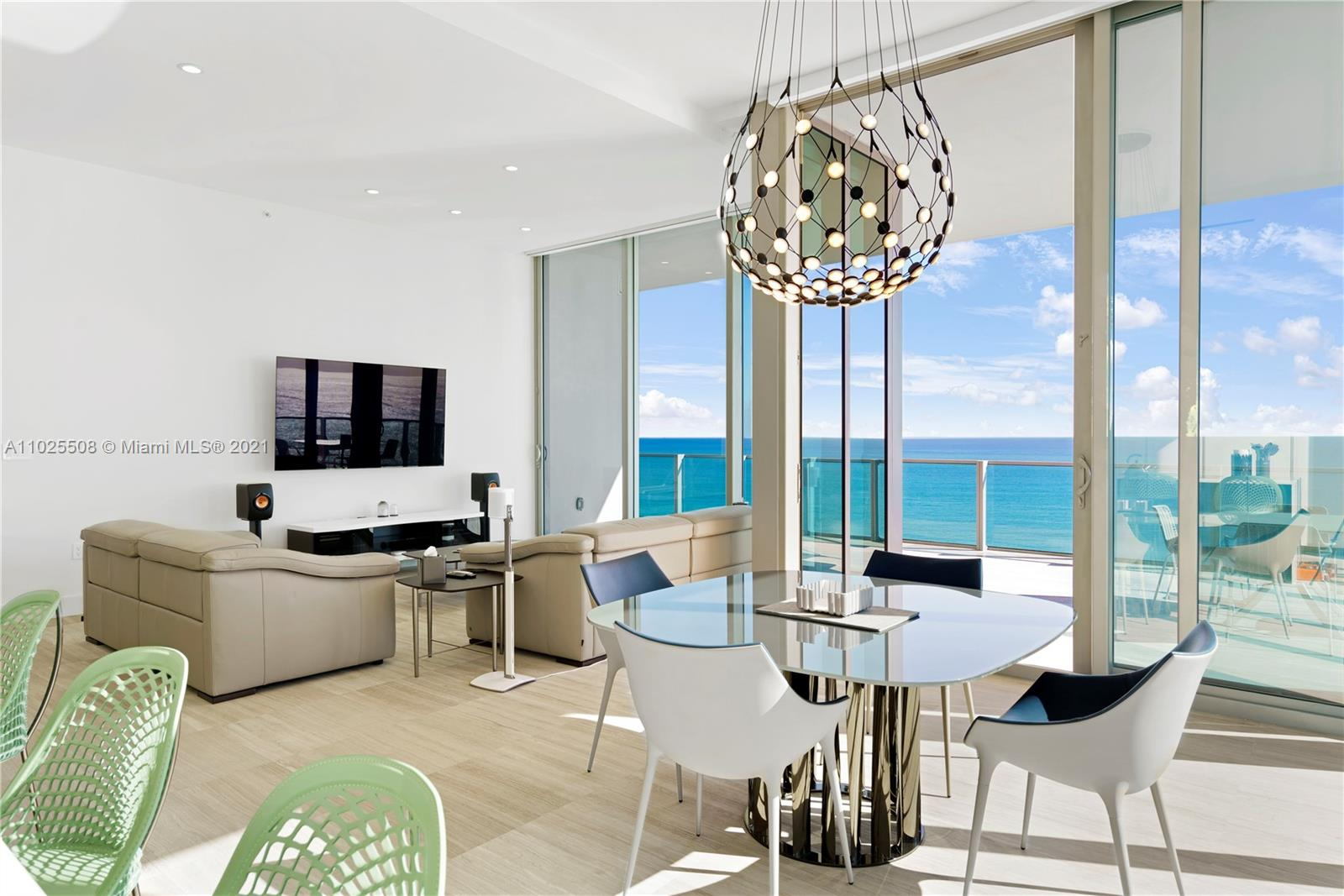 Rarely available Southeast Corner Unit at L'Atelier Boutique Building with 25 residences in Miami Beach.  Enter through your Private elevator to a  flow thru residence with 4 bedrooms/4.5 bathrooms.  Direct Ocean views, Biscayne Bay views, Intracoastal Waterway, Miami Beach Skyline and Downtown Miami. Expansive Balcony with over 1,300 sq. ft. to entertain or just relax.  12' ceilings,  Ornare Closets, Italian kitchens by Poliform with Gaggenau appliances,   L'Atelier offers 24hr valet, pool & beach attendant, oceanfront infinity edge swimming pool, poolside cabanas, bar, whirlpool spa, hammock garden, spa facility w/sauna & hammam, & double height state-of-the-art gym.