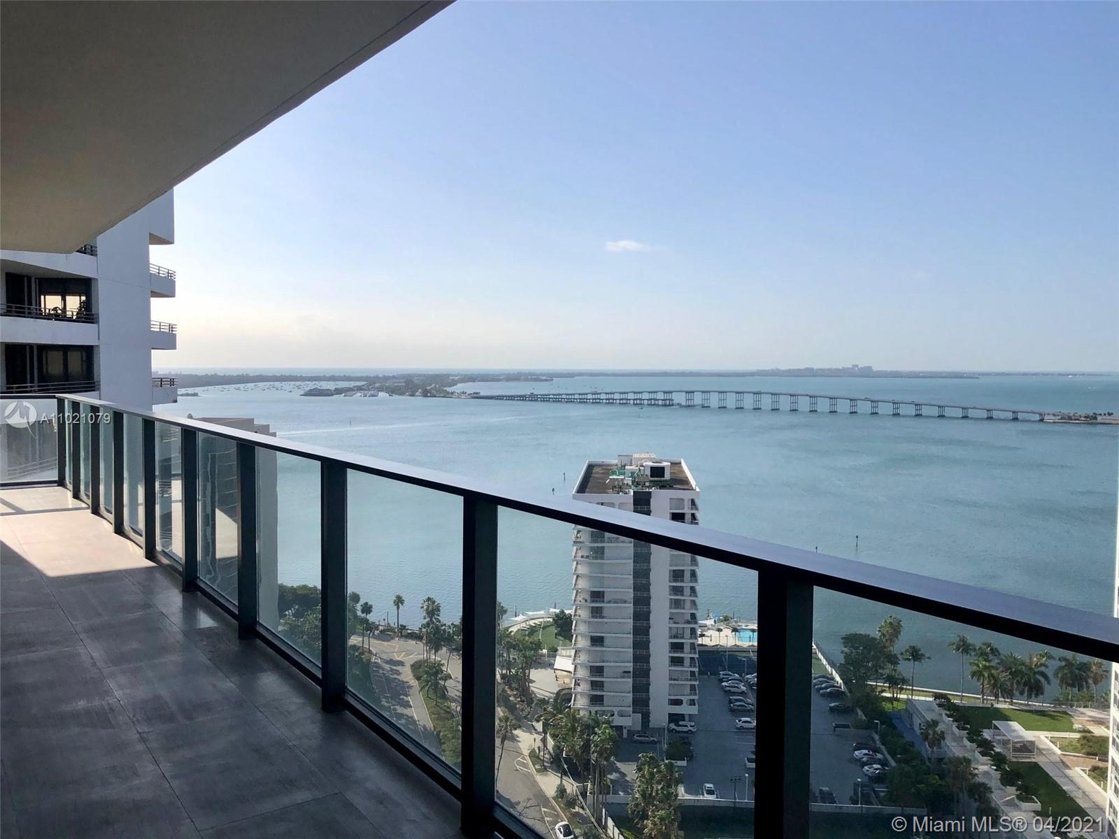 Fully Furnished Spectacular 2 Beds/2.5 Baths SE corner residence at Echo Brickell, a boutique residential high-rise in the epicenter of Miami's fastest growing metropolitan neighborhood, located on the East side of Brickell Avenue. Exquisitely designed with breathtaking bay views, incredible sunrise from the expansive terraces, with summer kitchen, that brings the outside in. Fully finished, marble flooring throughout the living spaces elevates the level of grandeur. Italian glass cabinetry, exquisite marble countertops and top-of the line SubZero, Wolf and Bosch appliances. APPLE® Home Technology, Infinity-edge pool, state-of-the-art gym and spa deck with panoramic views of Biscayne Bay and Downtown Miami. 24/7 concierge, valet, pet walker and more.