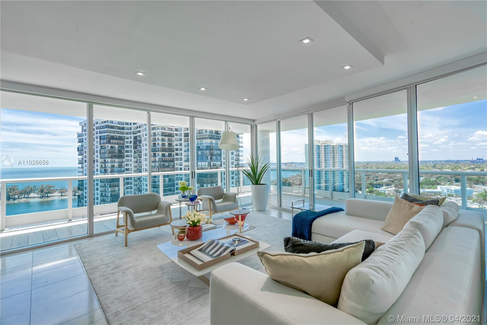 This stunning 3 Be/3Ba unit at prestigious Bristol Tower in Brickell offers 2,310 SF and will be sold completely furnished. The bright corner residence is completely renovated and offers stunning water and city views. This exquisite residence comes with an Italian Kitchen w/ island, Quartz countertops and Wolf &Subzero appliances. Other features include marble & hard-wood floors, spacious, wrap-around balconies, Italian doors, renovated bathrooms with shower and tub, Italian closets, lots of storage space and a separate laundry room. Ideally located close to the heart of Brickell, but outside of its busy core. Building amenities include 24-hour concierge and security, on-site convenience store/café, heated pool, social room, tennis courts, Jacuzzi, and a state-of-the-art fitness center.