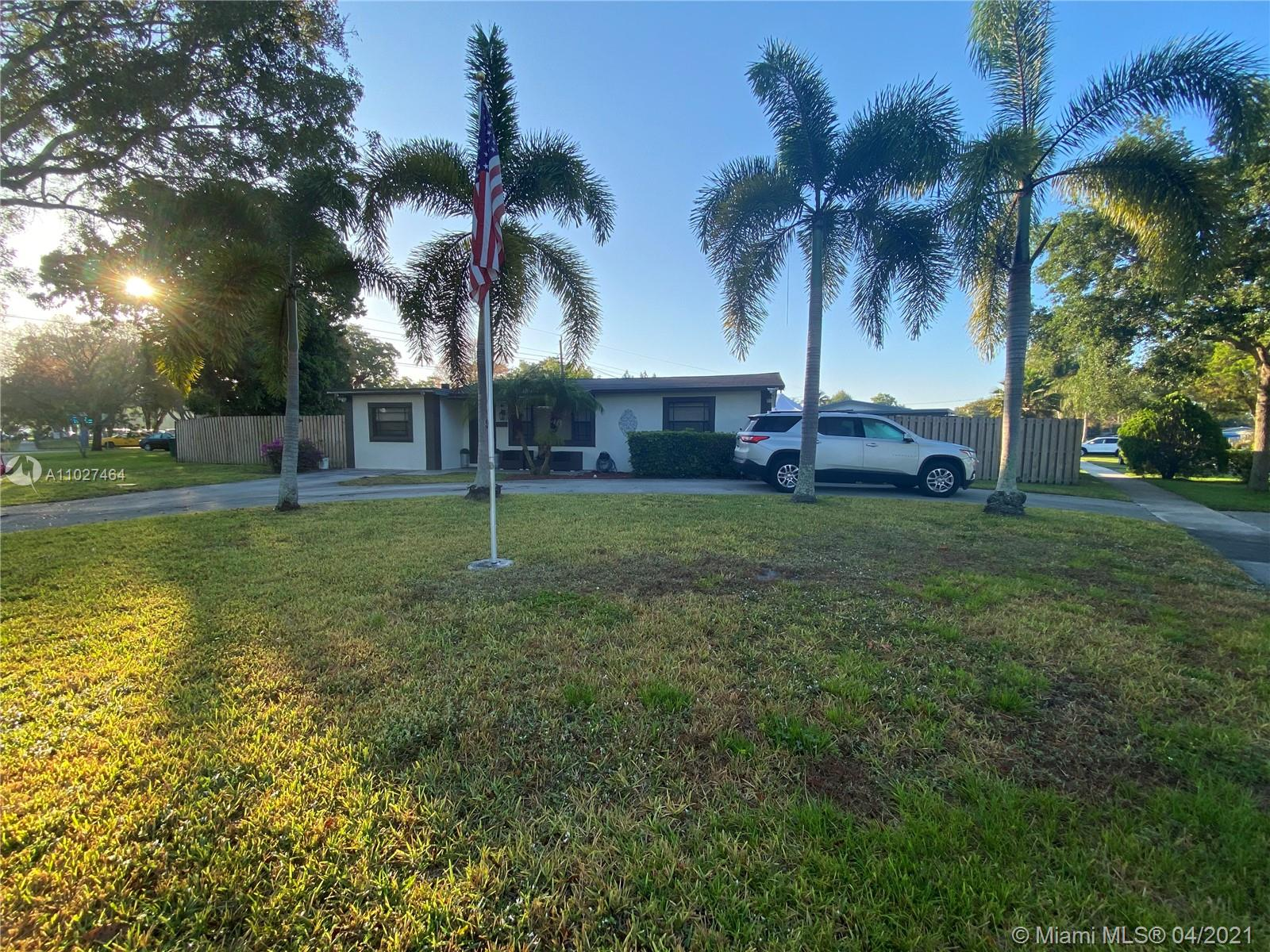 You don't want to miss out on this completely remodeled 3 bed/2bath home located in desirable Cooper City! This gem is situated on spacious corner lot, featuring a circular driveway and ample parking space. There have been no expenses spared in the remodeling of this home. The kitchen is complete with quartz countertops, new appliances and matching bar.  Wood-like porcelain floors throughout the entire home, new baseboards, trim and doors. Both master and guest bathroom have been tastefully designed.  Home has plenty of storage, built-in closets, laundry room with new washer/dryer and new light fixtures throughout. Backyard has plenty of space and the possibilities are endless.  Hurry before its gone!