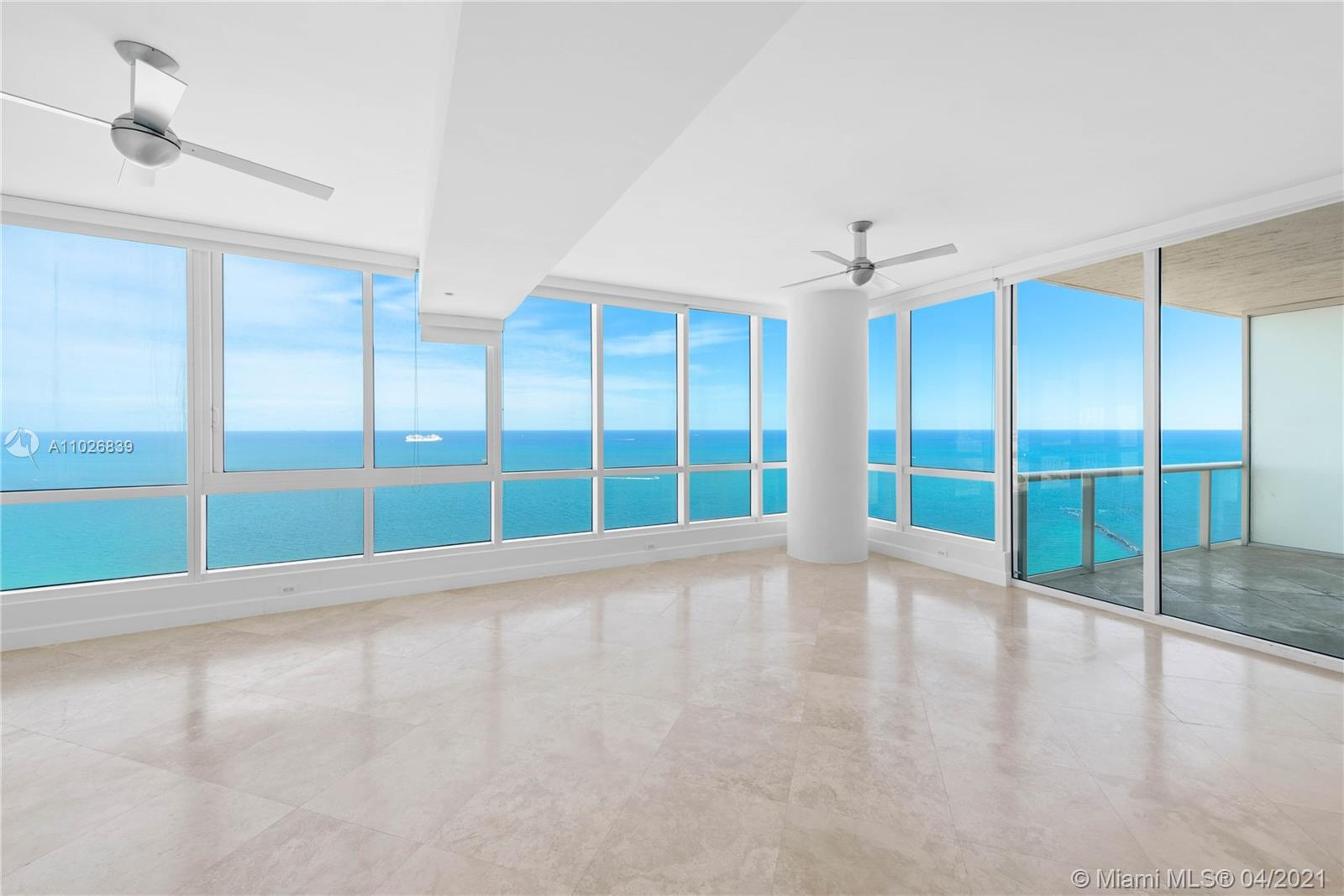 Lower Penthouse  at the Exclusive CONTINUUM South. In the most prestigious neighborhood nestled at the southernmost tip of Miami Beach. Spectacular Unobstructed Panoramic views of the Atlantic Ocean and Government Cut from every room. This unit 2 bed, 2.5 Baths, 10-foot high ceilings, gourmet kitchen Sub Zero , Miele appliances, walk-in closets, an extra large living room for entertaining, private balcony & private elevator leading to your large private foyer. The Continuum sits on 13 acres,3-story Gym lap pool & Spa 2 Lagoon Pools, direct beach access with full-services, Restaurant ,3 Tennis Courts. Concierge, Valet & 24-Hr Security. Very easy to show! Renovation will start  soon, still on time to personalized it !!!RENOVATION WILL START PRICE WILL RAISE!!