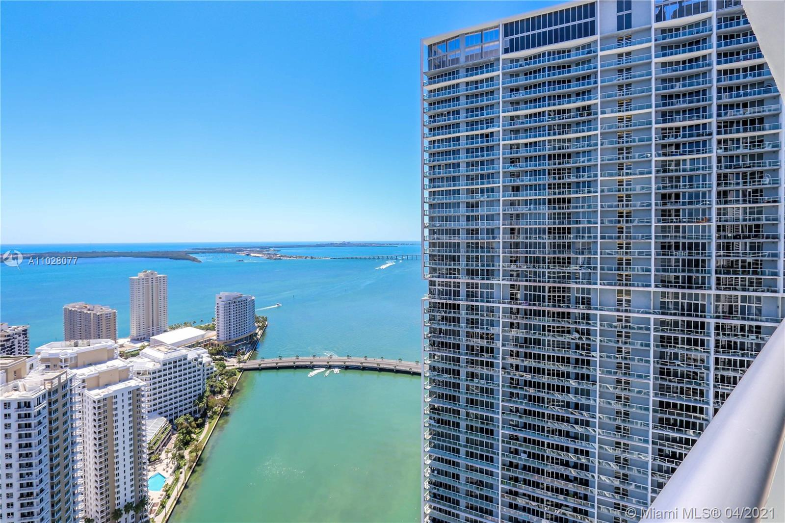 Luxurious High-Rise Condo on Brickell Ave. Unit is on the 44th floor and it offers breathtaking views of the Biscayne Bay, Fisher island and Key Biscayne from its generous size balcony. With a great split floor plan this property offers the ideal layout! ICON4403 is in impeccable and turn key!  Blackout shades in bedrooms, California closets and freshly painted ready to be occupied!  Resort like amenities include: Gym, Olympic size pool, spa, hot tub, restaurant and bar. This property may be offered furnished- furniture sold separately. Property is vacant and easy to show! Call LA for additional info!