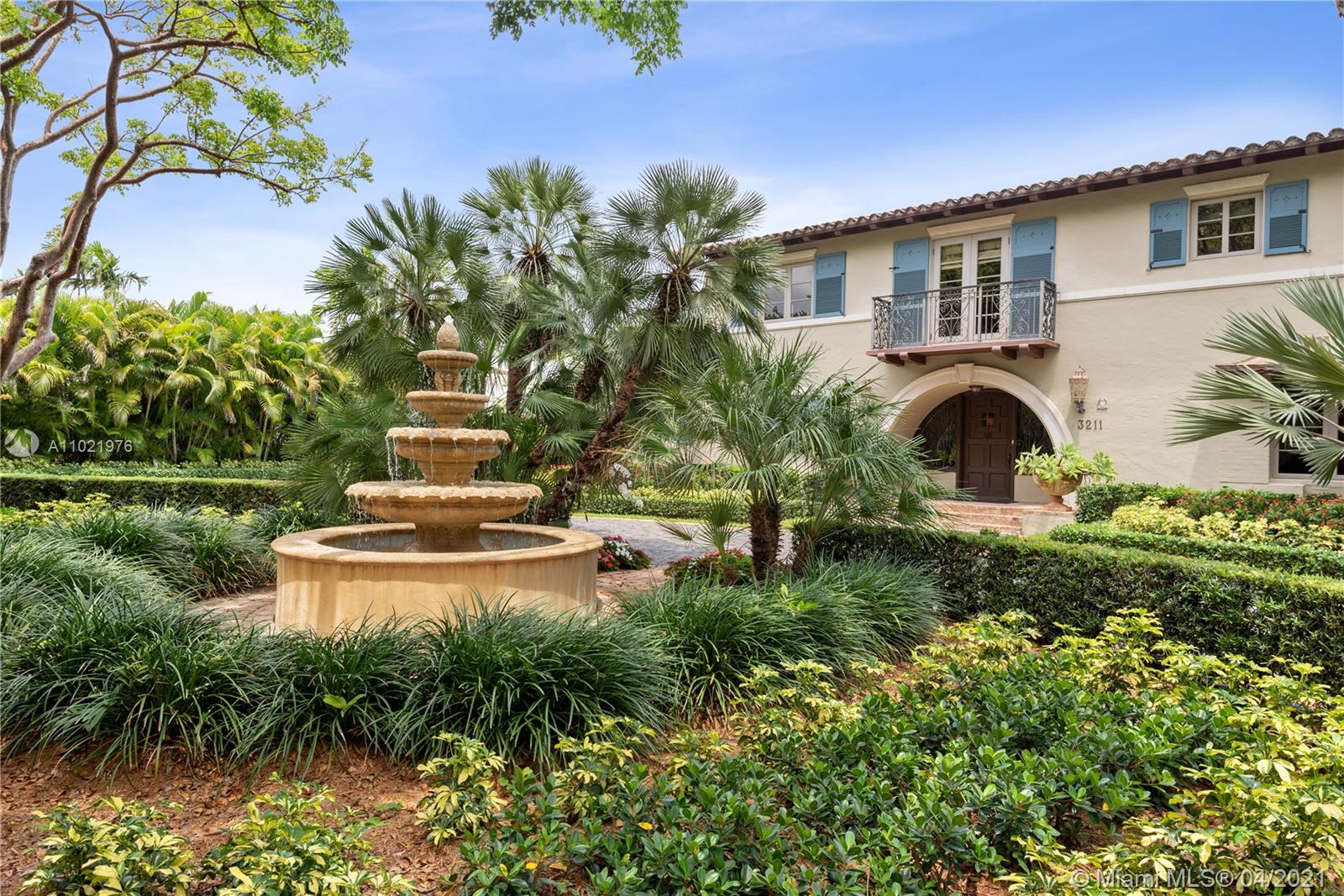 On world-class prestigious Biltmore Golf Course is a beautiful Mediterranean Revival historically designated 9,950 SF adj. estate with meticulously manicured landscaped grounds, mature trees & breathtaking views of the historic Biltmore Hotel. Spectacular curb appeal with cobblestone driveway welcomes  you to an elegant timeless home & its many features; Wine Cellar, Full Bar/onyx counter, Marble & Black Granite flooring. Expansive Chef's kitchen with Christian Clive inspired Cabinetry, Wolf Range & 2 Ovens, Wolf Microwave/Pastry Oven, 2 Sub Zero Fridges, stone floor etc. Covered outdoor kitchen has gas grill, burners, fridge, TV, surround sound. Inviting pool/patio for entertaining & relaxation. Luxurious Master Bdrm/Bath wing. En-suite bedrooms, Come see on iconic tree lined Alhambra!