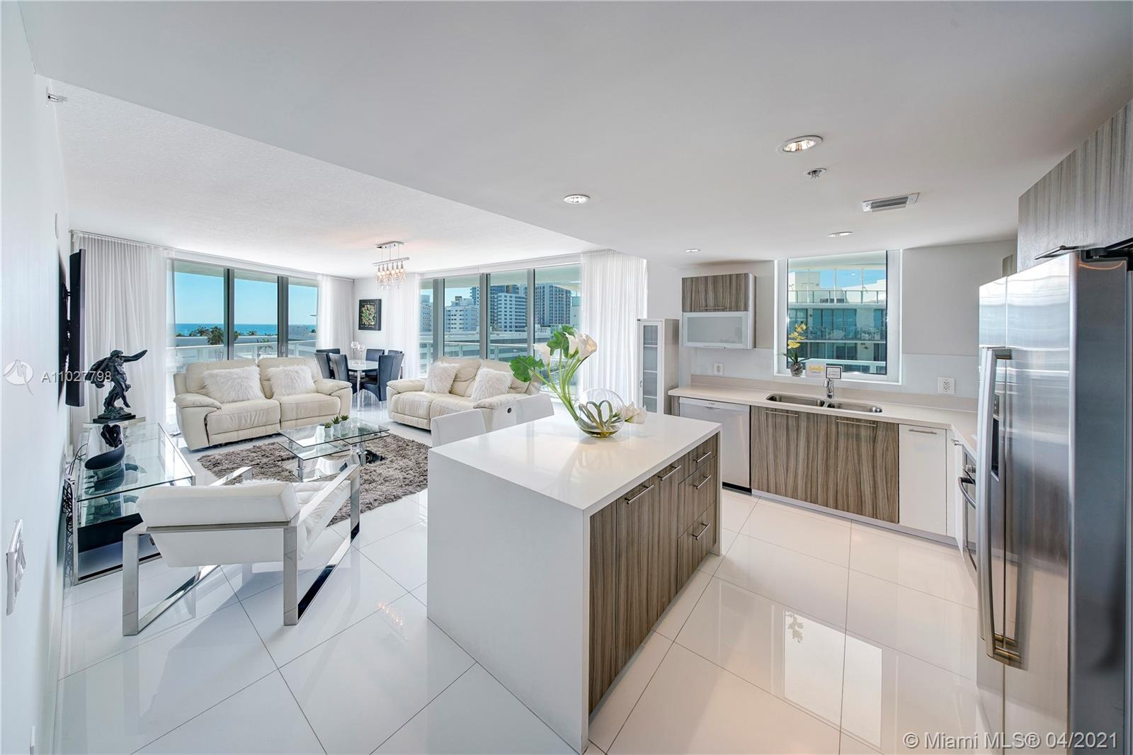 Live on the Aegean Sea of Miami Beach. Experience the unobstructed Sunrise and Sunset in this Furnished 3 Bedroom/ 2.5 bathroom corner unit. Enjoy this visually stunning condo with Ocean, Intracoastal, Bay, and Skyline views. Floor to ceiling windows highlight the 180 degree views and wide balconies. The split floorplan provides the privacy you desire. Eden House is a full-service building in the heart of Miami Beach. Spend the day sunning on property or head to the beach and don't forget to check out the nearby world-renowned restaurants.