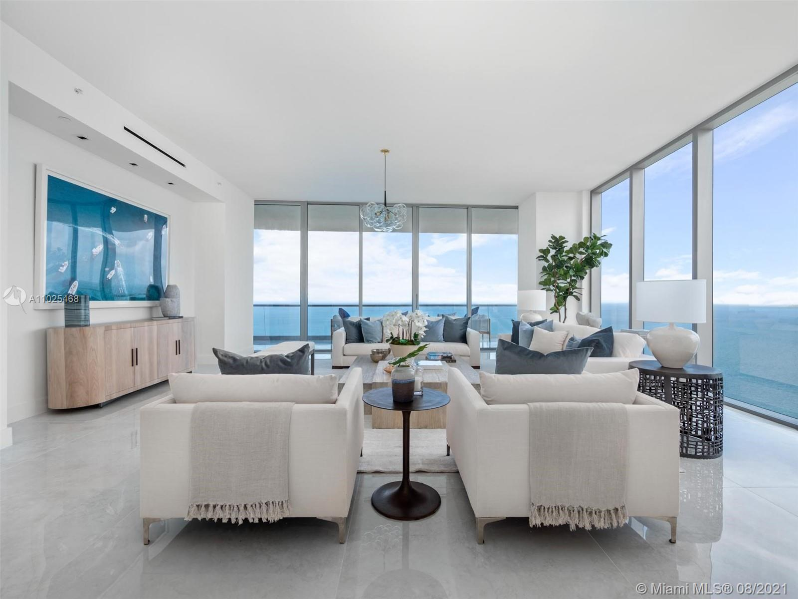 STUNNING RESIDENCE WITH BREATHTAKING VIEWS FROM THE 43TH FLOOR IN THE BRAND NEW TURNBERRY OCEAN CLUB. The exquisite beachfront sky scraper FEAUTRES Six Levels of Amenities: Sky Club, Theater, 3 Swimming Pools, Pool Bar, Restaurant & More. This one of a kind four bed 5 1/2 bathroon unit features 11 ft ceiling heights and an upgraded white Snaidero Kitchen with all top of the line wolf/subzero appliances. Turnberry Ocean Club offers an unprecedented level of luxury for every lifestyle.  UNIT COMES WITH FLOORS INSTALLED*****
