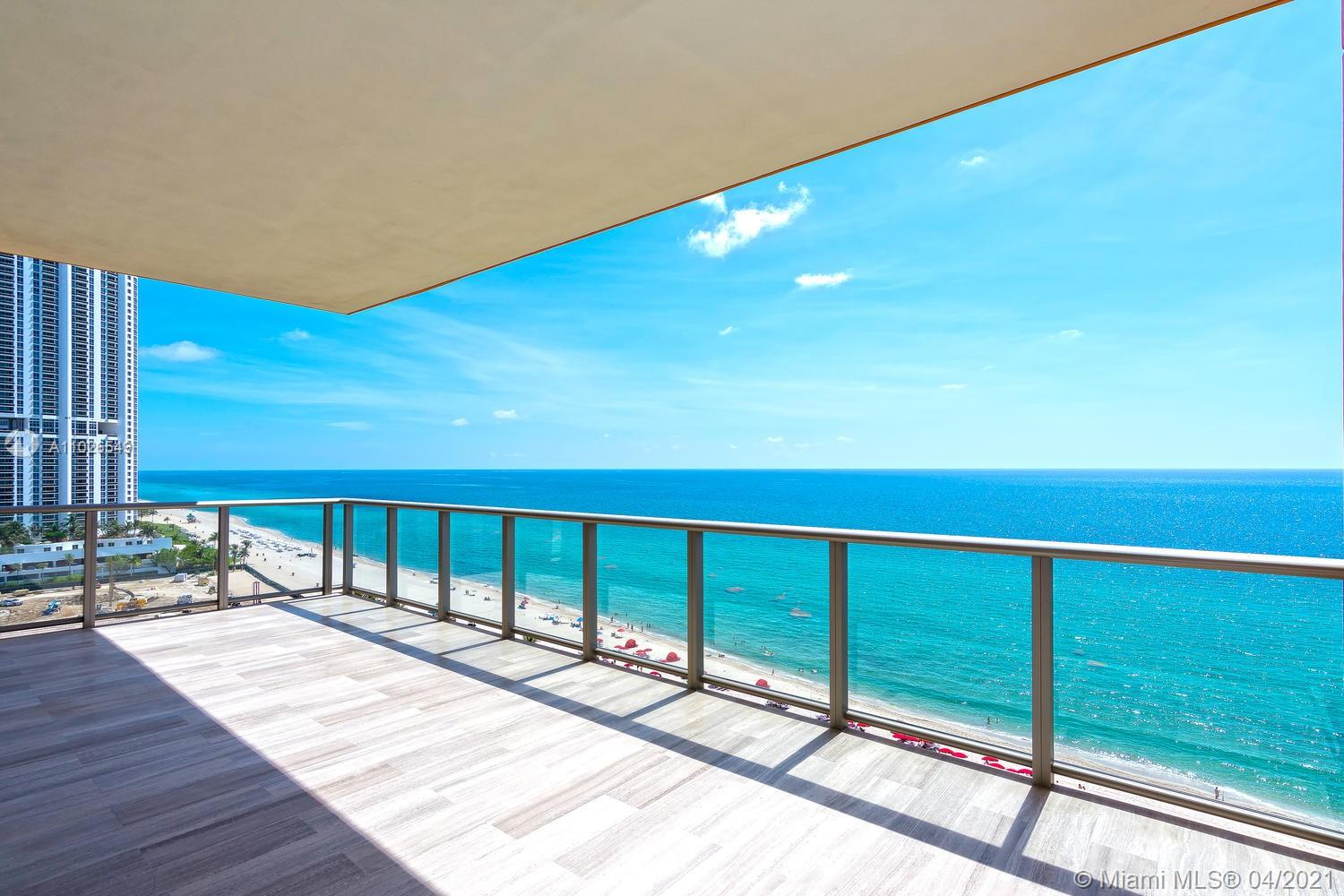 Spectacular corner unit facing ocean and city skyline. This residence features over 4,600 sf flow thru floorplan 3 bedrooms (convertible to 4) + 6.5 bathrooms and 804 sf of deep terraces. Top of the line finishes and appliances - live in like 5 star hotel! Full of amenities with exceptional services! Enjoy sunrise overlooking Acqualina's expansive beachside amenities and sunset from the private waterfall jacuzzi and summer kitchen. 10.6 ft ceilings, Downsview kitchen w/ Miele appliances, gas fireplace, Master suite w/ his/her baths, leather closets, steam showers, Crestron smart climate/light control. Rolls Royce house car, cigar/wine lounge, theatre, spa, hamman, kids room, golf sim, breakfast served daily. Access to Acqualina's 5 star hotel services, ESPA, Il Mulino.