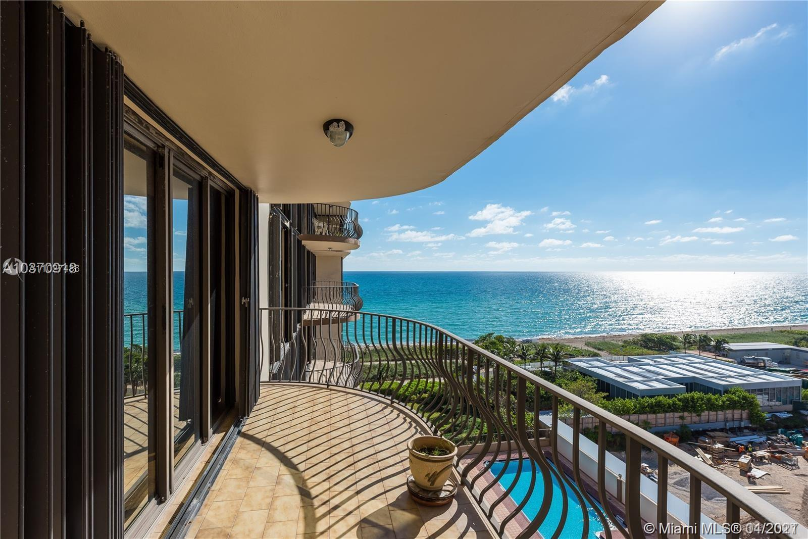 Breathtaking ocean views offered from this spacious 3 bedroom / 2 bath  unit. This spacious residence has hardwood floors, walk-in closet and full size washer/dryer in unit . Large kitchen with eat in breakfast table. Unit is recently remodeled with very spacious  walk in closets. Building is steps to world renowned Bal Harbour shops, restaurants,  and amenities include: BBQ area, Sauna , Gym, Party room with billiard table and 24/7 security and front desk. Hi speed WIFI and cable included in rent. Residents have access to tennis courts and community center. Easy to see call listing. Unit can not be rented for the first two years . Unit is rented till july 30,2021. Showing Monday through Friday. Building has a special assessment in place for 180 months just approved .