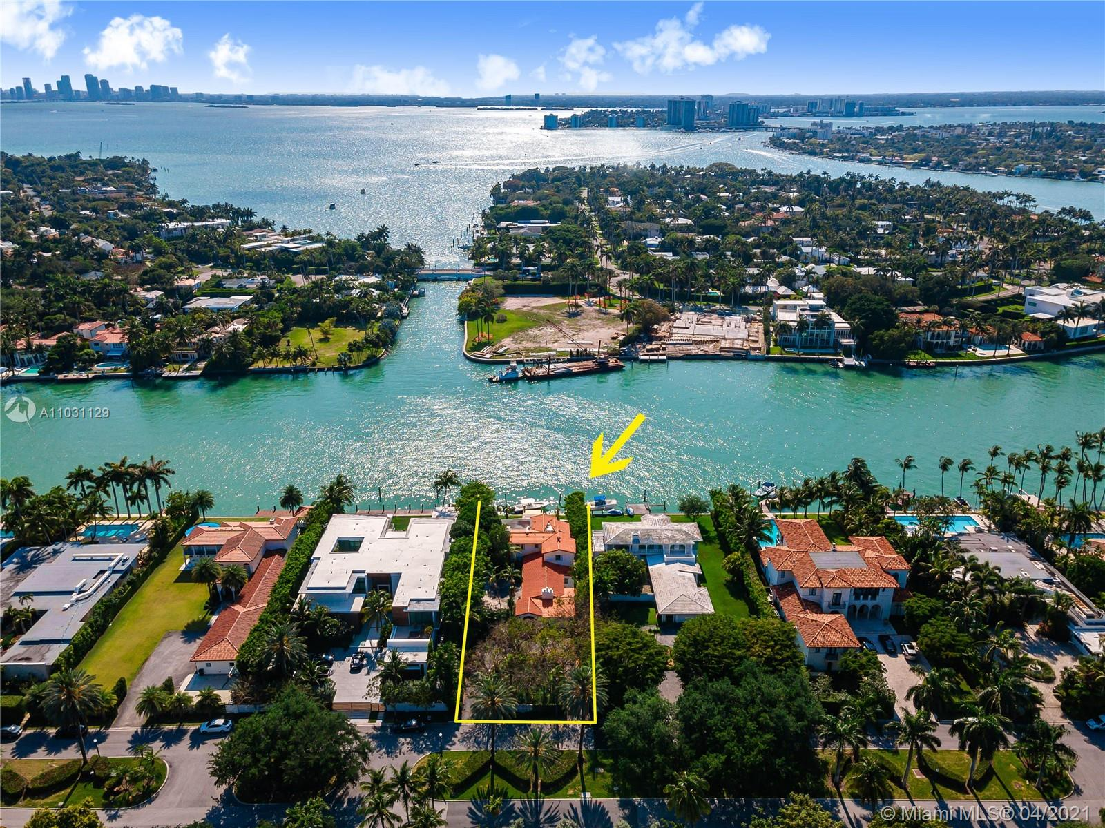 Allison Island is home to celebrities, entrepreneurs & professional athletes. Recognized for its privacy, security, & incredible waterfront location, this is a rare opportunity to live your own personal paradise on over 75 ft of waterfront, with no fixed bridges to the open bay & ocean. Regarded as one of the most coveted waterfront lots, this 16,200+ SF property includes architectural drawings for a palatial estate & dock, by renowned architect, Choeff Levy Fischman. Uniquely positioned, this prime homesite boasts a western exposure highlighted by endless sunset views. The prestigious community of roughly 50 residences is home to some of the world's most recognized residents, including Michael Burke- CEO of Louis Vuitton; Rapper Lil Wayne; & Top Sports Agent Drew Rosenhaus, to name a few.