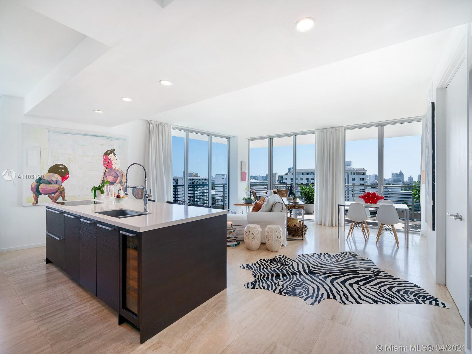Luxury 2 bedrooms 2.5 bathrooms, living with views from the ocean to the bay. Panoramic Miami Beach Skyline sights throughout.  Floor to ceiling windows, fine flooring and custom closets systems.   Located in Capri South Beach, a boutique luxury condominium with only 69 residences. Offers private marina, Fitness center, pool, jacuzzi, valet and security. Steps from Lincoln Road , Sunset Harbour, gyms, shops and restaurants.
