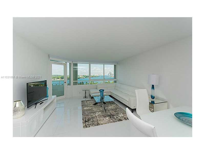 Completely renovated FULLY FURNISHED modern residence in the most prestigious neighborhood in South Beach; South of Fifth, offering stunning unobstructed views of Biscayne Bay, Miami Skyline, South Pointe Park and Fisher Island. White glass tile floors, opened kitchen with stainless steel appliances, custom cabinets, and white quartz countertops with white backsplash. Custom closets in bedroom, with a bathroom featuring a walk-in rain shower. In the process of being completed are newly upgraded exterior amenities including two pools, poolside cabanas, tennis courts, dog park, BBQ/lounging area, serenity garden and porte cochére. CAN BE COMBINED WITH ADJACENT UNIT #1005 TO CREATE A 1,900 SQFT RESIDENCE. #1005 IS ALSO FOR SALE FOR $1,245,000. SEE PROPOSED COMBINATION FLOOR PLAN IN PHOTOS.