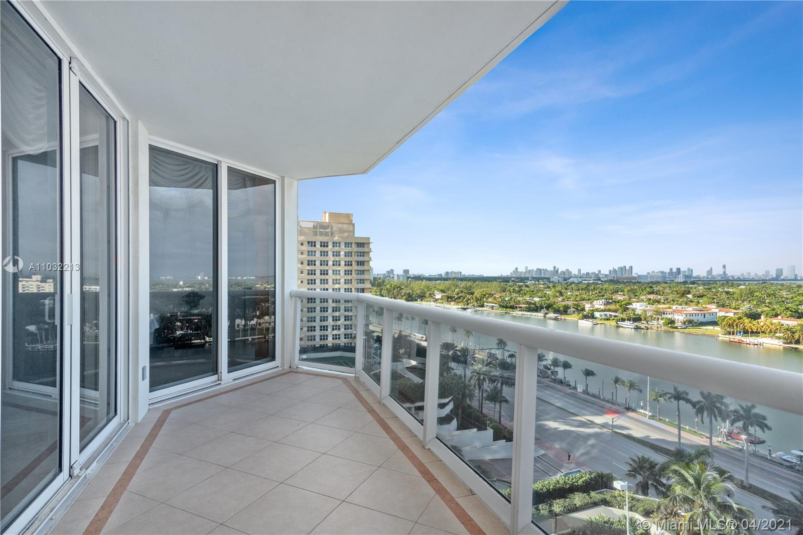 As you enter into this large one bedroom + den and 2 full baths residence you will be greeted with beautiful views of Bay, Intracoastal & City. Spacious living area, large terrace, Floor to ceiling glass windows. Expansive primary suite w/large bath & walk in closet. With its unparalleled location, the Blue & Green Diamond is one of Miami Beach's most sought after addresses. Enjoy luxury beachfront living with five-star resort-style amenities including 24-hour security and valet, lighted tennis court, large pool, spa, fitness center equipped with the latest technology, poolside café and more.