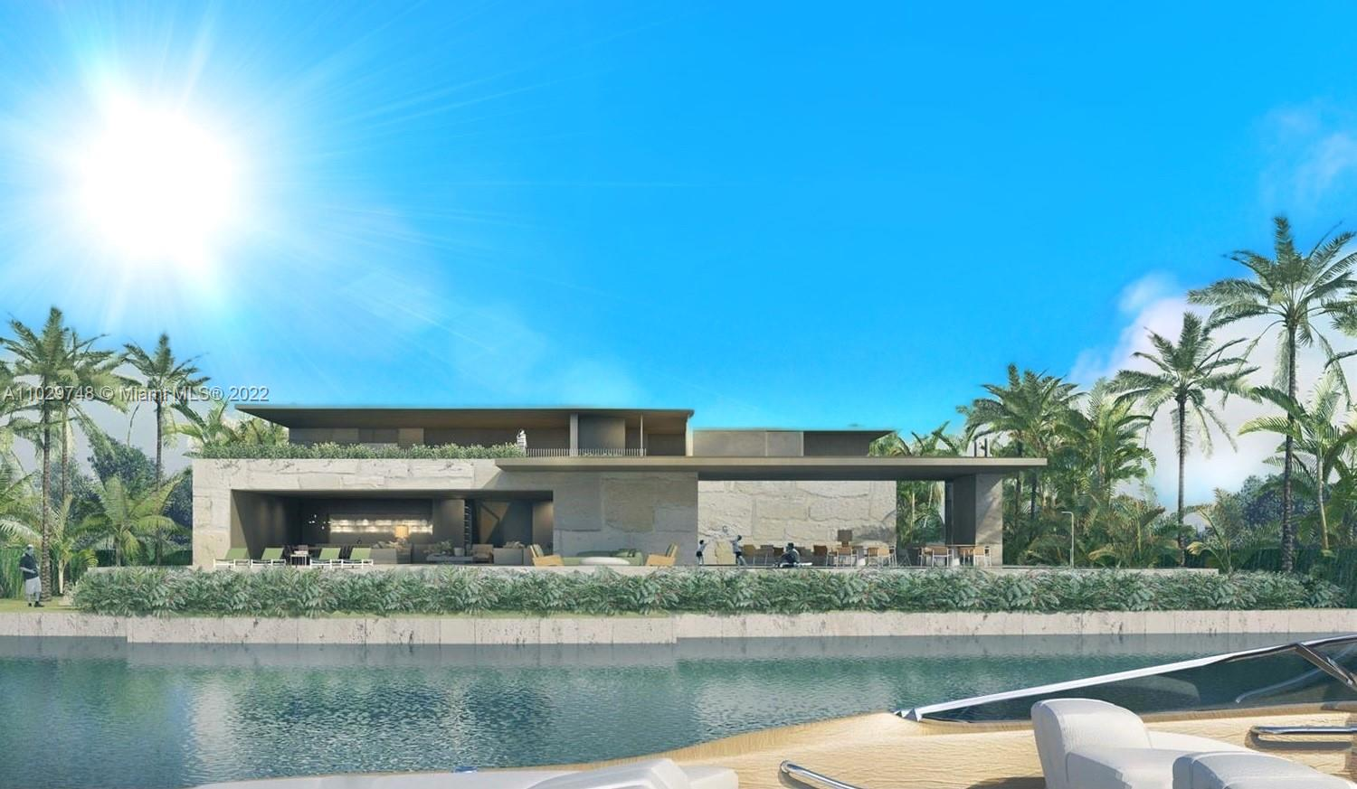 MASTERPIECE BY RENOWNED BRAZILIAN ARCHITECT STUDIO ARTHUR CASAS ON PRIME SOUTHEAST FACING DOUBLE LOT ON SAN MARINO ISLAND! A Rare Find on the Venetian Islands with 22,682 SF Lot Wrapped by 160 FT of waterfrontage. Large enough for this Brand New Horizontal Modern construction in Tasteful Brazilian Beach-Style that is influenced by a spirit both Modernist + Contemporary that is Brazilian but also Cosmopolitan. City of Miami Beach Approved plans include a 6 bedrooms + 6.5 baths Estate Home with staff quarters, media room & gym encompassing 10,500 SF of Interior Living Space. Home's Shell is mid-way completed. This gives you the opportunity to customize your interiors to your Desire. Full set of plans and permits will be delivered with the property. EZ to show!