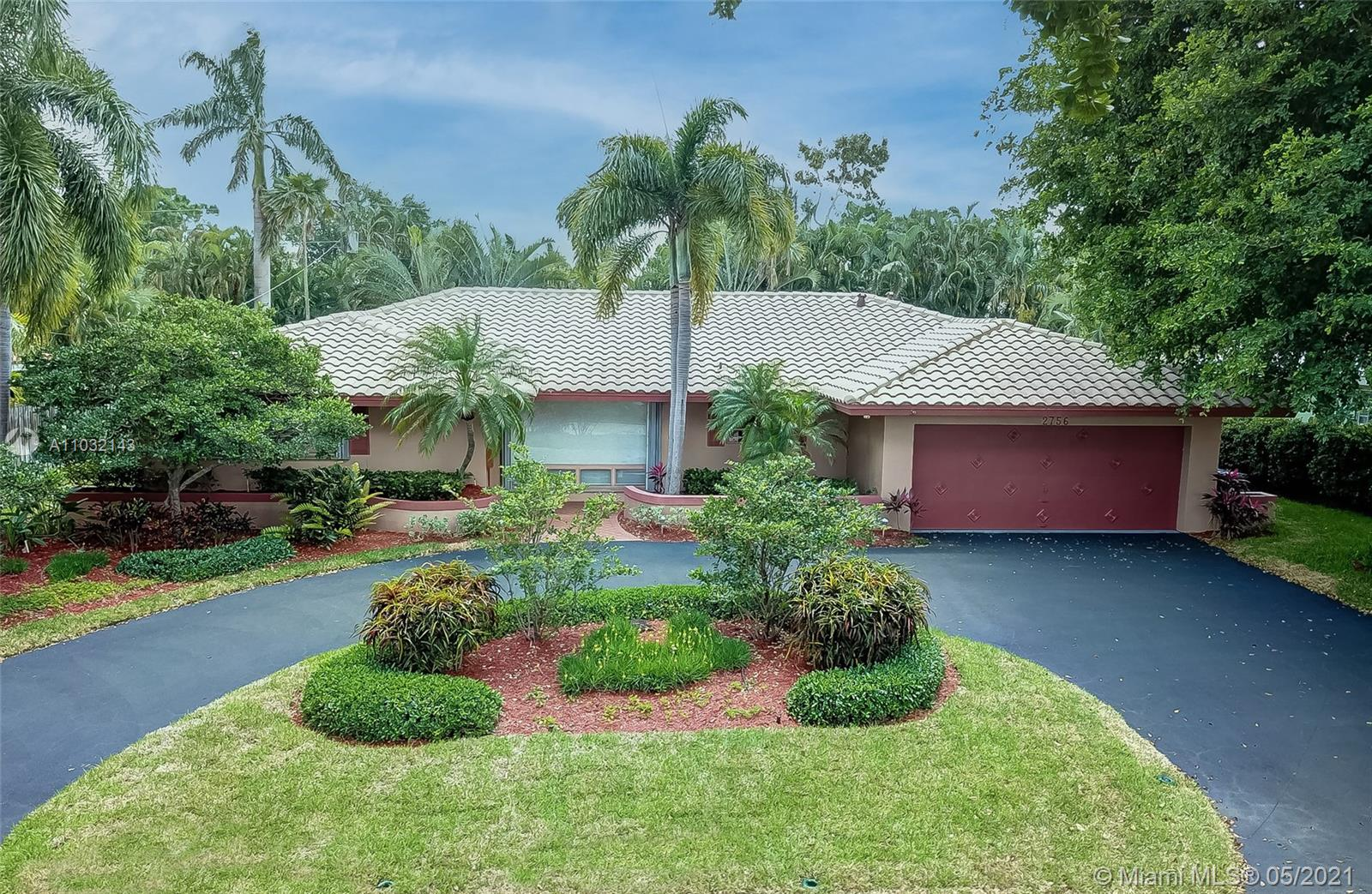 Own this elegant rare single-level 4BR home on the most coveted street in Coral Ridge Country Club. Oversized 11,850 SF lot enhances privacy and outdoor living space. Landscape architect designed butterfly garden with jasmine, trio of triangle palms and staghorn fern creates luxury tropical living. Cobalt-edged pool, white stone pool deck and custom bi-level wood deck for entertaining and relaxation. Flowing split BR plan with plaster crown molding, Saturnia floors and designer finishes in LR/DR/FR. Stainless KitchenAid appliances surround granite kitchen island and dovetail wood cabinets. Kohler porcelain/faucets in marble/granite baths. Built-in storage in 2 BR makes virtual working a breeze. Alexa smart phone controlled devices, 2-car garage. No HOA.