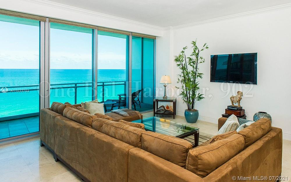 Beautiful flow through floor plan w/10ft. ceilings, floor to ceiling glass and stunning unobstructed spectacular ocean, city, intra coastal and bay views. Offering 2 large bedroom suites, 2.5 marble baths and 2 large private terraces. Located in Ritz Carlton Bal Harbour, the most prestigious address in South Florida, at the Haulover Inlet, in the world renowned city of Bal Harbour. Enjoy all the luxury of the five star Ritz Carlton. Owners can take advantage of the hotel's 5-star amenities such as the Exhale spa, gym, waterfront Artisan restaurant, room service, white glove concierge services and beach club, or use the private resident's only pool and facilities. Virtually tour this magnificent residence, click on the virtual tour link!!!!