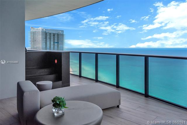 Spectacular Residence at Porsche Design Tower with unobstructed and panoramic ocean views. Beautifully furnished, this unit features private ocean view pool on terrace, outdoor grill, Poggenpohl designed kitchen and Miele appliances, summer kitchens, fireplace and in-unit garage. Porsche Tower provides exclusive access to a private restaurant, chilled wine lockers, and an outdoor lounge facing the ocean. Enjoy the private cinema, the golf simulator and racing simulator, all on the same floor. Close to the finest and most recognized high-end shopping destinations in the world, gourmet dining, exclusive nightspots, as well as world-class art galleries and museums.