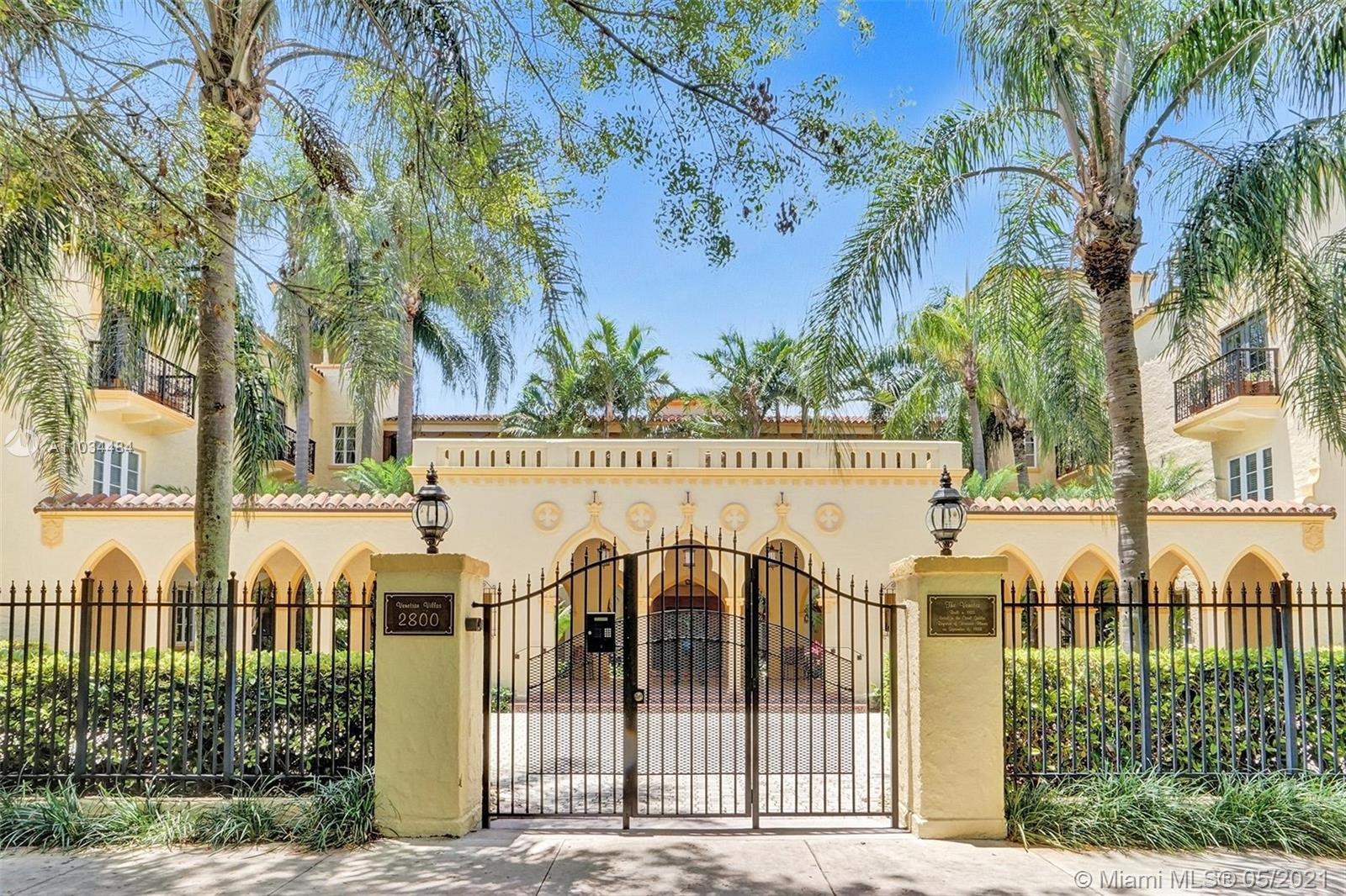Amazing chance to own a rare gem in Coral Gables. Located on the ground level of a three-story historic building adjacent to the Venetian Pool. Originally built as an apartment building/hotel in 1925, the building was extensively renovated in the 1980s to evolve into a luxury complex with only two units per floor. In addition to four large bedrooms and four and a half baths, the unit includes two living rooms, a formal dining room, a large kitchen with casual dining, a sitting room off the master, and a foyer. Impact windows throughout. Live in luxury in one of the most sought after parts of Miami! Located minutes from the Biltmore Hotel and the University of Miami, directly next to the Venetian Pool and walking distance from Miracle Mile.