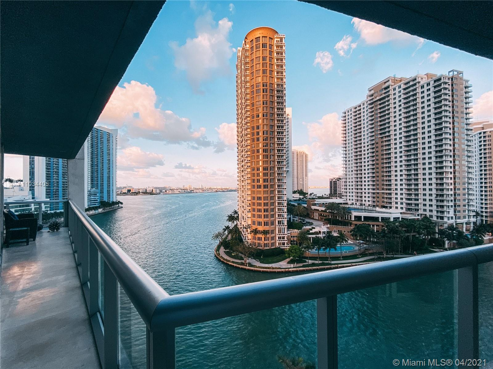 Located on the prestigious Brickell Avenue, at the intersection of Downtown Miami and Brickell. IconBrickell Towers 1, 2, and 3 unite Miami's urban metropolitan areas. Unit 1101 is located in the sought-after Tower 1. This condo consists of 3 bedrooms 2 1/2 bathrooms fully updated, offering an extended balcony due to its location as a corner unit. Enjoy the amazing view of both, the Miami Bay as well as the direct ocean view (see photos). This unit offers the convenience of the parking space being on the same floor as the unit. Tier 1 amentities include pool, gym, spa, billiards room, spinning room and two fine dining restaurants on ground level of the complex.
