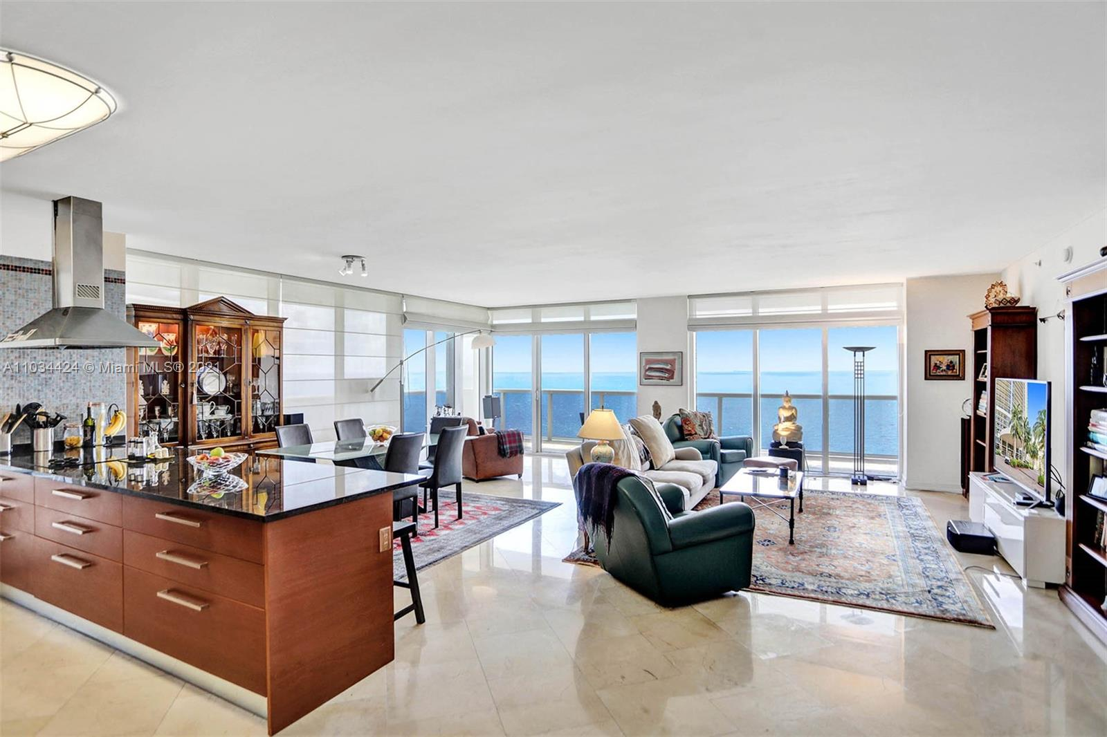 From the moment you walk in enjoy incredible breathtaking views of the ocean! This spacious residence features 3 bedrooms, 3.5 bathrooms with 2,078 interior SF and direct oceanfront views from every room, floor to ceiling glass sliding doors, and a magnificent 586 SF wrap-around balcony. Other features include marble floors throughout, a European-style kitchen with stunning granite countertops, Kitchen Aid appliances and tons of storage cabinets. Live at the Beach Club tower 1 this condominium features 5-Star resort-like amenities, full-time concierge and security, 24-hour valet, 5 warmed pools, and a 50,000 SF fitness center and spa.
