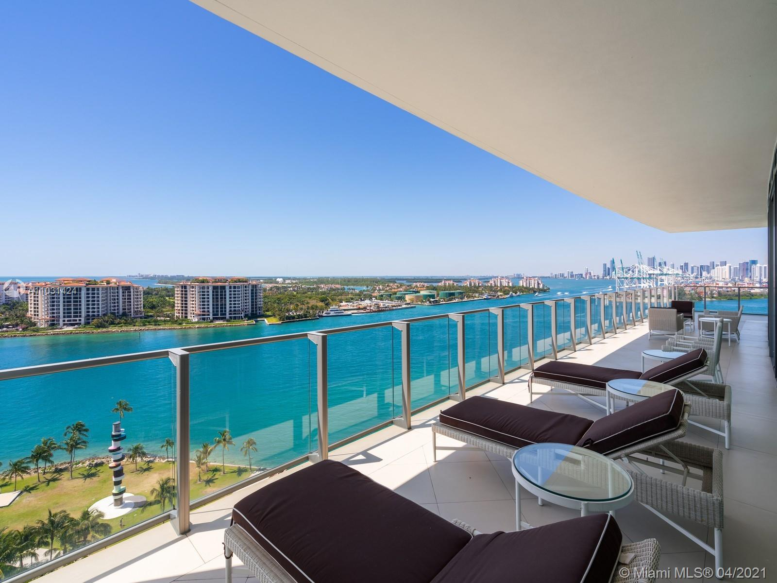 Very Unique and luxurious corner Unit at the Prestigious Apogee South Beach Residence. Completely renovated 04 line apartment featuring 3 bed 3.5 baths, a media room,  beautiful ocean views from an 11 Ft wide terrace, that itself provides a much needed summer kitchen. This fascinating unit also provides a gourmet kitchen with top of the line appliances, private elevator and much more. Must see.