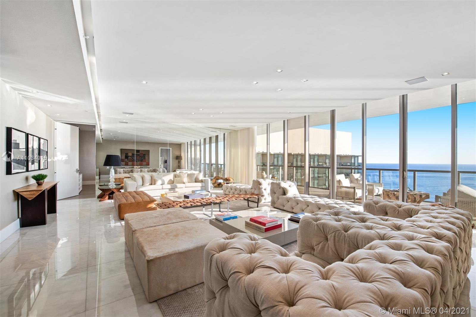 Unique Penthouse Residence avaialbe for lease at the prestigious St Regis. 5 bedrooms and 7 bathrooms .
