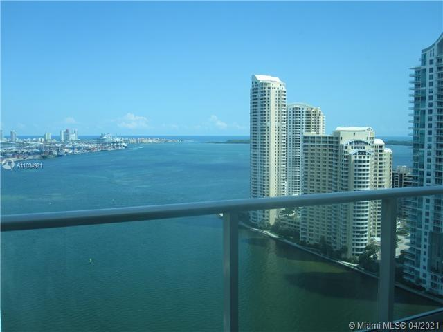 Direct bay views from this 2/2 split plan condo. East exposure. 9.4 ft. ceiling height. Integrated kitchen with bay views. Italian cabinetry, granite countertops, stainless steel appliances, cable & internet included. One assigned parking space.