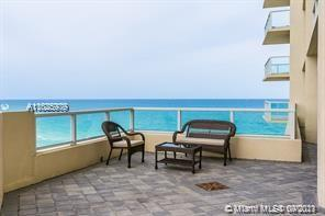 FOR INVESTORS .OCEAN FRONT BLDG BREATH TAKING OCEAN VIEWS FROM THIS FULLY FURNISHED 2 BDRM 2.5 + DEN. DIRECT OCEAN AND INTRACOASTAL VIEW FROM 3 BALCONIES W/NE EXPOSURE, MARBLE FLOORS, WASHER & DRYER, FULL SERVICE BLDG. 24 HR SEC, CENTRAL LOCATION CLOSE TO AVENTURA MA LL AND HIGHWAYS. GREAT INVESTORS OPPORTUNITY SHORT TERM RENTALS PERMITTED. 1 ASSIGNED PARKING SPOT AVAILABLE!!! SPOT WORTH $25.000!!! La Perla is a great 5-star pet-friendly and investor-friendly ( short term okay) beachfront building and allows 12 times per year rentals.