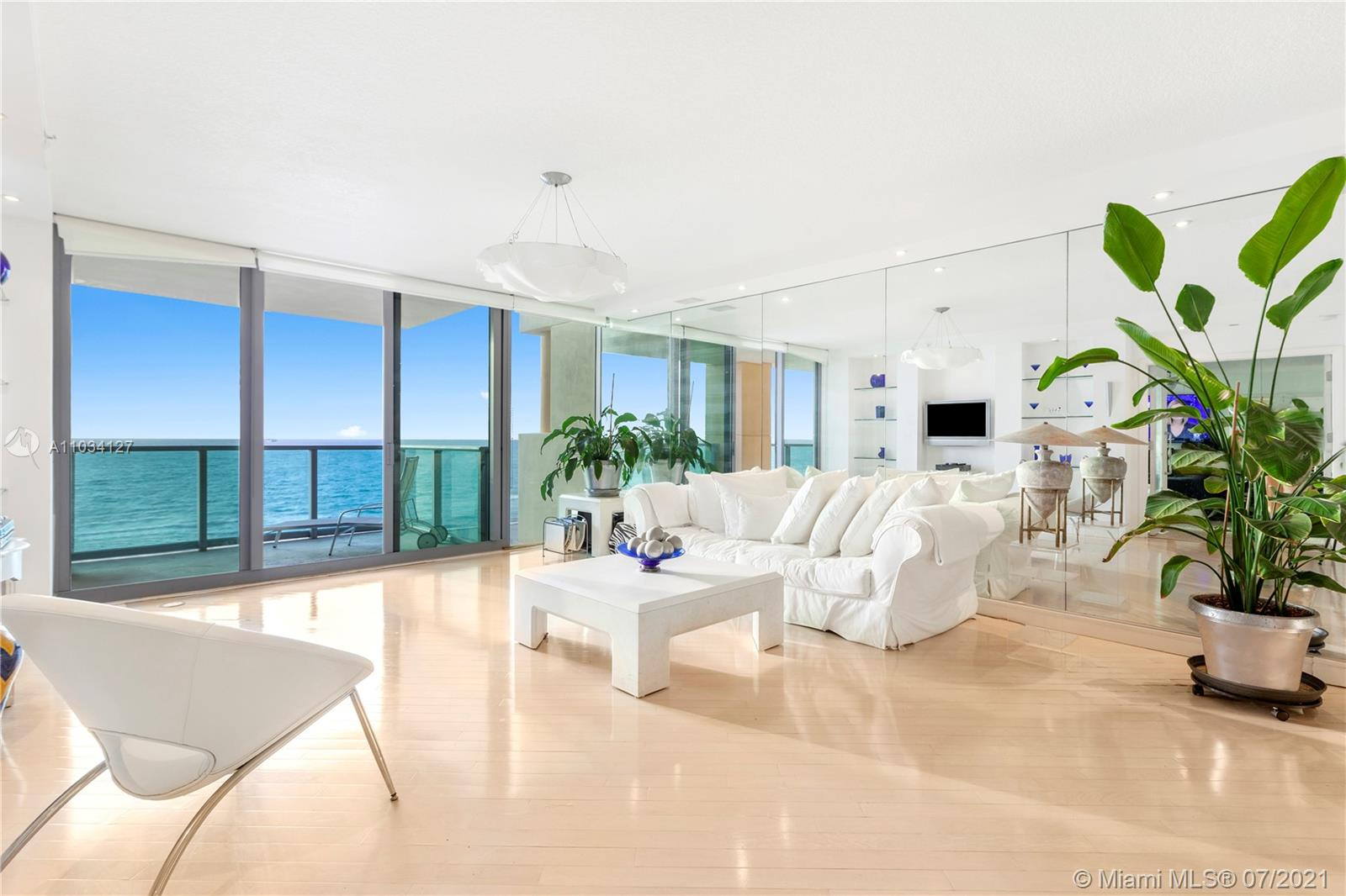 Start your dolce vita  at ll Villaggio, the finest oceanfront residence in South Beach. Enjoy sweeping views from this high floor, 3-bed / 3-bath unit with floor-to-ceiling glass and private elevator entrance. Watch the sunrise over the Atlantic from a generous east-facing terrace. Two west-facing terraces offer sunset & city views. The flow-through layout provides plenty of room for relaxing & entertaining, ample storage, and large laundry area. Il Villaggio is a full-service, luxury building with valet, 24-hour security, 2-story fitness center, pool & private beach club. Stroll along the beach to South Pointe Park or head north 3 blocks to Lincoln Road. After enjoying all the fun & fine dining Sobe has to offer, return to a serene oasis with a superb staff waiting to welcome you home.