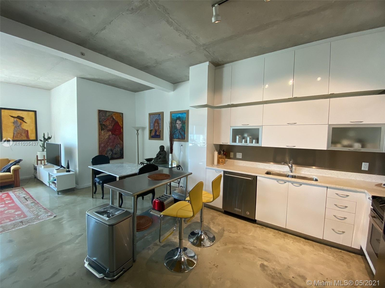 Broker 305 is pleased to offer one of the largest 1 Bedroom lines at The Loft I Boutique Condo Building situated in the core of Downtown Miami. Within walking distance to great Miami landmarks to mention a few such as Bayside, Miami Marina, Triple AAA Arena & Bayfront park. High Loft Style Ceilings with easterly Bay Views. New kitchen cabinets and along with extra cabinets above for that much needed storage. Washer/Dryer inside. Quiet High Efficient Central AC. High Speed Fiber Optic Internet , Covered Parking space and use of pool, sauna, gym and pool table room is all included in the maintenance. Live the Downtown Urban life at a reasonable price before these condo's go even higher. 30 Day Minimum rental makes this space ideal for short term rental income as well.
