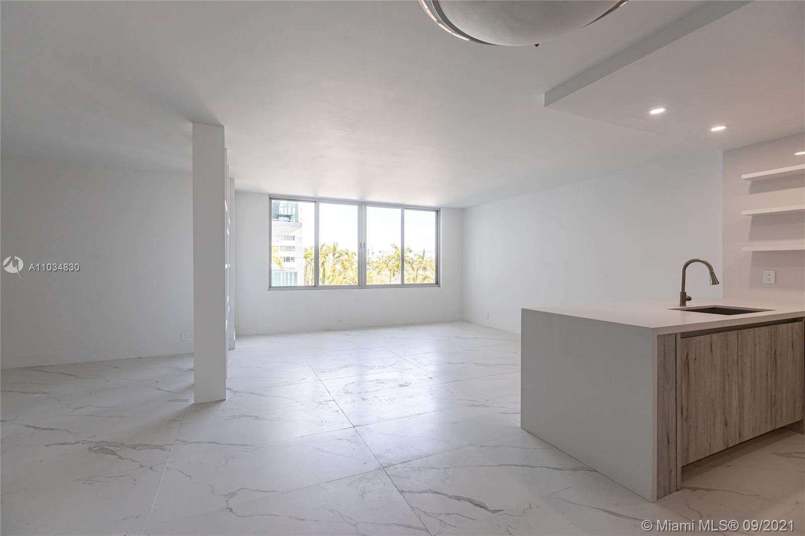 Completely remodeled unit, gut renovation,ULTRA MODERN, NEVER LIVED IN, estimated completion June 1st. Hurricane impact windows, window treatments, open kitchen, recessed lighting, porcelain marble floors, caesar stone countertops, stainless steel appliances, custom cabinets, nest thermostat & door locks (see renderings). 24 hour valet and security. The Mirador 1000 is Full Service Building with Exceptional Amenities: Interior lobby and pool deck currently under construction (see renderings) Convenience Store, 5000sf Fitness Center w/ Sauna, Large Pool and Jacuzzi. Pool Deck with Bar-B-Que Grill. Internet and cable are included in the Association Fee.  Valet $65 per month 1st car, $100 for 2nd car (Owner will give $1200 valet credit) Lobby under renovation, see renderings.