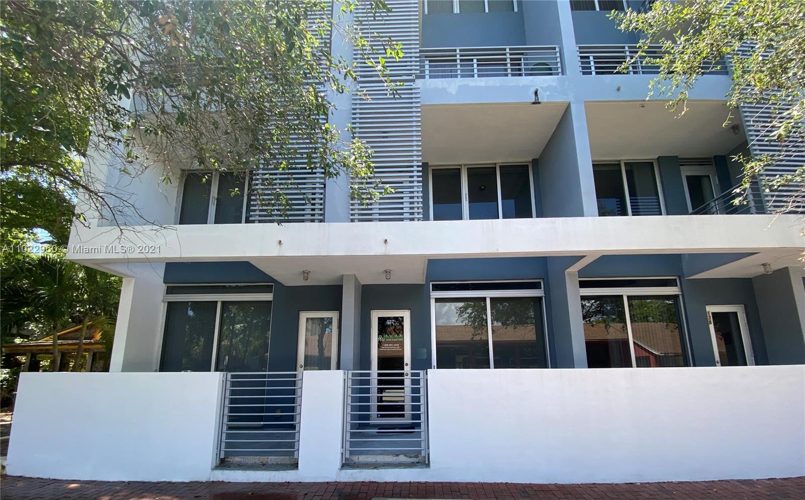 This spacious live/work unit offers an open floorplan, high ceilings, incredible amount of closet space, in unit washer / dryer, upper balcony and first floor patio space. This unique opportunity offers the right buyer the opportunity to both live and work in one of the best neighborhoods in Miami. Amenities include a fitness center, heated swimming pool, sundeck with chaise lounges and chairs and a whirlpool. A rare gem in the heart of Coconut Grove and just minutes south of Downtown, Brickell and Miami Beach. The charming boutique building is directly across from the redesigned Cocowalk and Mayfair Hotel. Pedestrian-friendly neighborhood filled with the perfect combination of chef-driven restaurants, sidewalk cafes, boutiques, community events and Kennedy Park.