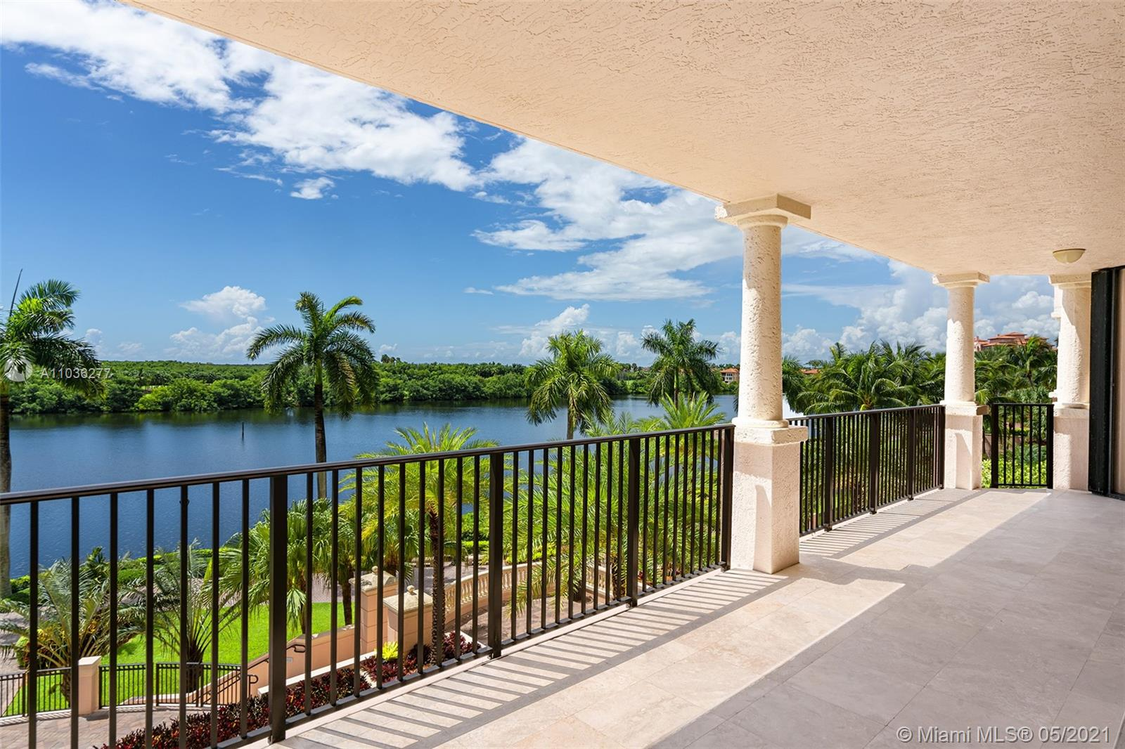 Paradise found! Located in the Siena building of the Prestigious Deering Bay Yacht & Country Club this 3 bedroom, 3 bath condo features breathtaking bay views. Luxurious Golf Course lifestyle with first-class amenities including pool, boat dock, fitness center, and clubhouse in a prime Coral Gables waterfront location. Exit the elevator into the private foyer to find high-end finishes throughout such as a marble eat-in kitchen, marble baths, and custom closets. Enjoy waterfront views from the large living and dining room. Laundry/utility room great for storage. 2 Parking spots.
