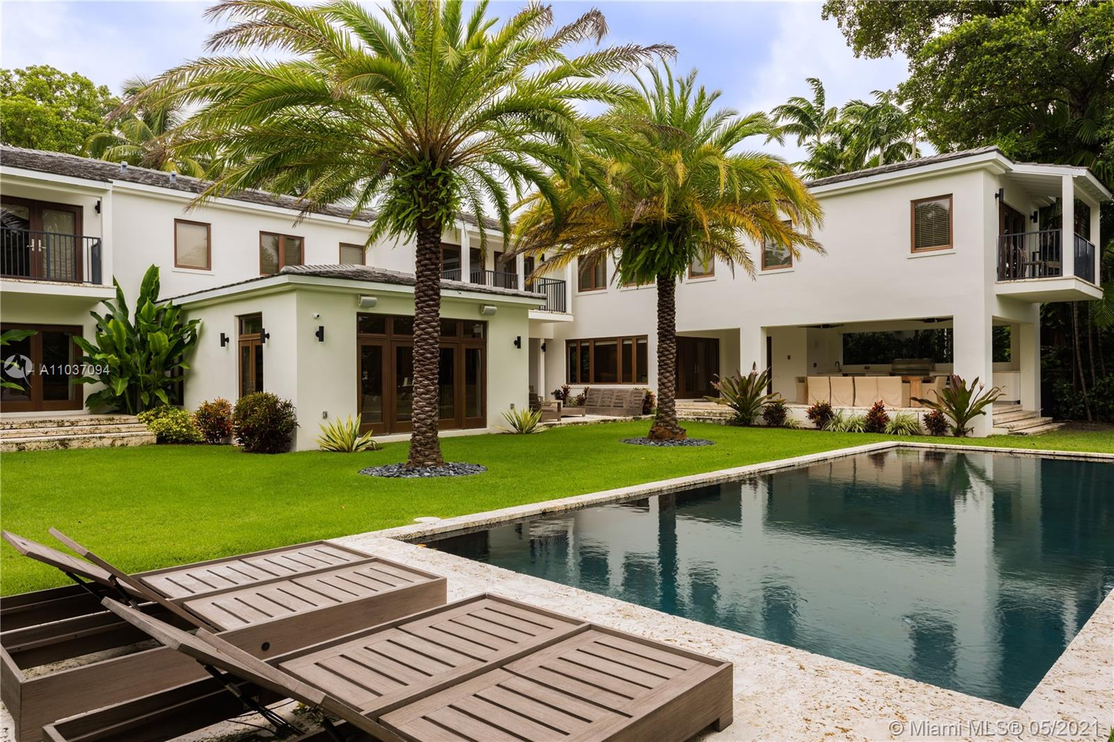 FULLY RENOVATED, 2-STORY WATERFRONT HOME ON A PRIVATE AND GATED COMPOUND LOCATED ON SUNSET ISLAND I. 7,725 SF INTERIOR ON A 20,000 SF LOT WITH 100 FEET ON THE WATER. HOME FEATURES 7 BEDROOMS, 8.5 BATHROOMS, IMPACT WINDOWS & DOORS, GUEST HOUSE, MEDIA ROOM, COVERED PATIO, BALCONIES, MOTORCOURT WITH AMPLE PARKING,  2-CAR GARAGE, LUSH LANDSCAPING, GOURMET KITCHEN, HEATED SWIMMING POOL, OUTDOOR KITCHEN + BBQ, OUTDOOR SHOWER, PRIVATE DOCK WITH BOAT LIFT. WALKING DISTANCE TO SUNSET HARBOUR, CLOSE PROXIMITY TO LINCOLN ROAD, I-95, HOSPITALS, SCHOOLS, AND PARKS.
