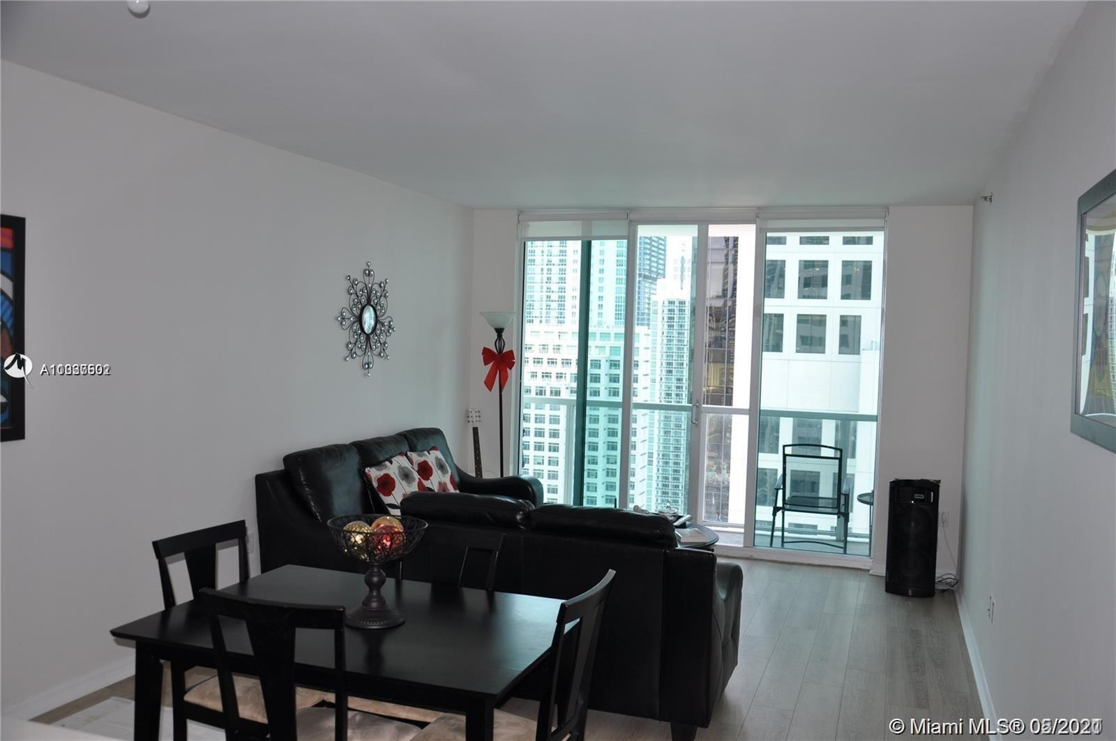 Spectacular bay and city views from this spacious 1 bedroom and 1 bathroom unit located in in exclusive 500 Brickell (East Tower). Enjoy the unique amenities: 3 spectacular pools including a lab pool and 42nd floor with panoramic view pool. State of the art fitness center, wine cellar room, sport bar room, his/hers hot jacuzzi, unique theater, walking distance of Brickell City Centre, Mary Brickell Village, the financial district, restaurants & entertainment. Quick access to main roads and expressways. Basic cable & internet included. Unit rented until Nov 30, 2021 at $2,000 / month (Great Tenant)