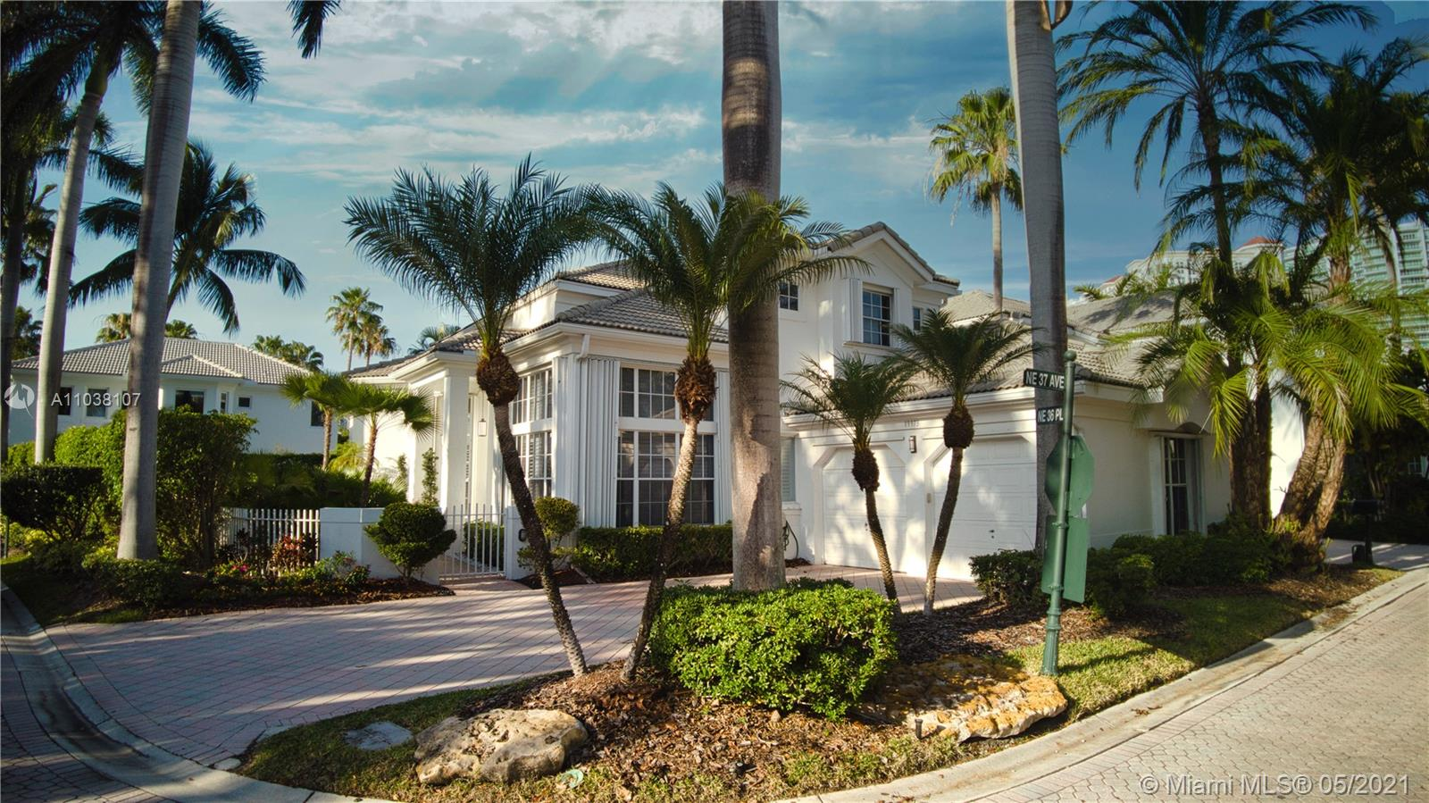 Great location in Aventura. Corner lot 4 bedrooms 3.5 bathrooms plus an office/den in an exclusive quiet gated community. The master bedroom is on the first floor with direct exit to the terrace. Kosher kitchen. Walking distance to places of worship.
