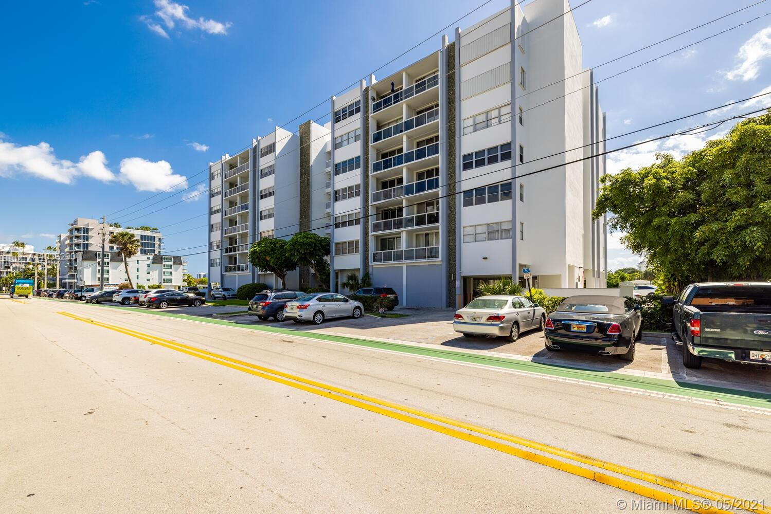 Mimo Gem meets island life in Bay Harbor Islands, 1/1.5 , Bright open unit with concrete polished floors, Corner unit with extra windows , Large kitchen with lots of possibilities, New Ac, building has new Glass balconies, New lobby and lots of upgrades.  Must see... Easy showing with some notice.