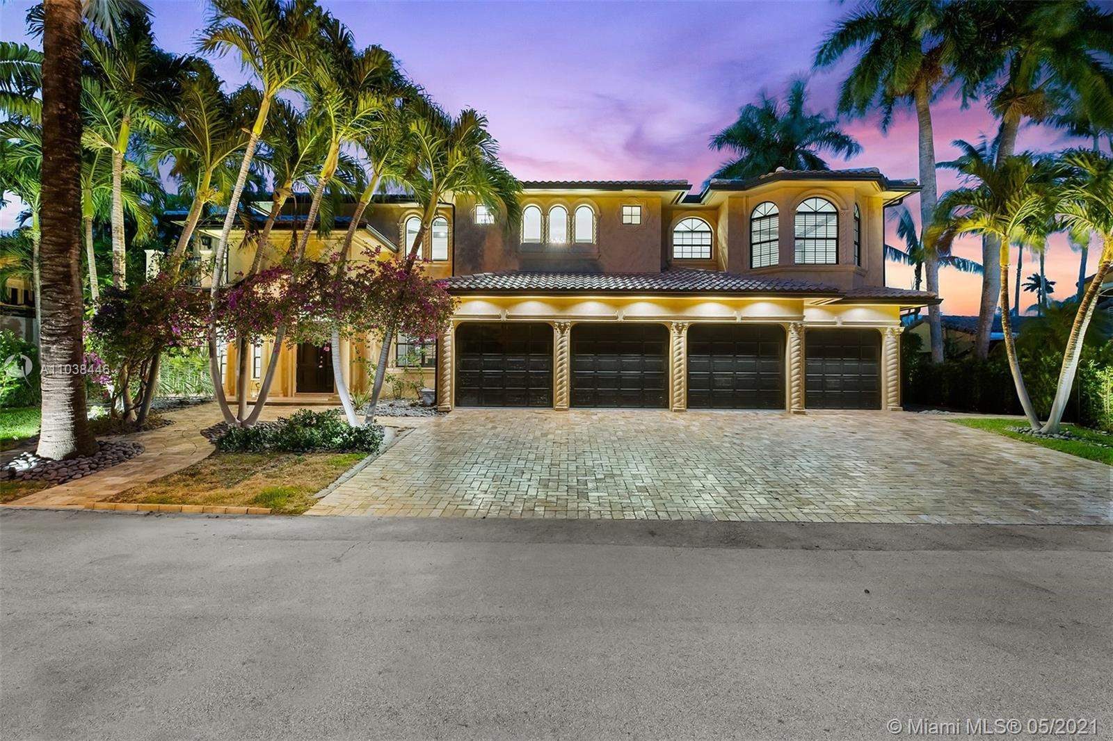 Stunning sophisticated home located in Las Olas Isles within walking distance to famous Fort Lauderdale Beach and Las Olas Blvd. This unique home has never been on the market and features 6 bedrooms one of which is a separate nanny or in law suite. With 100 feet on the water & 4 car garage, this gorgeous property checks all the boxes. The home offers a wide open floor plan ideal for luxury living and entertaining. New pool with River Stone finish along with a summer kitchen makes this an ideal property for family living. Pool deck faces east so no hot afternoon sun on your entertaining area. Composite dock has a hoist. Home also features one bedroom downstairs & huge master suite upstairs overlooking the pool & waterway. The flow of this floorplan is perfect! You won't be disappointed!!