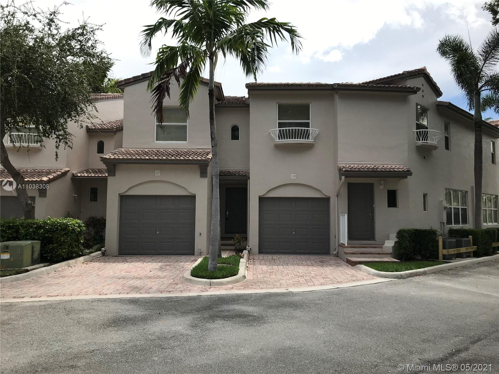 Gated Community , 2-story Townhome just across from the beach in wonderful Lauderdale By The Sea, 2 Bedrooms , 2.5 Baths, 1 Car Garage, Washer and Dryer in Unit, Community Pool and Fitness Area, Dishwasher, Kitchen, Separate dining room, Double Sinks and Roman Tub in Master with Separate Shower, Outside area off Mediterranean Style Courtyard with room for a Grill just outside your back door, Ample Guest Parking, 2 vehicle per unit allowed. New roof Year 2021. A Must See!